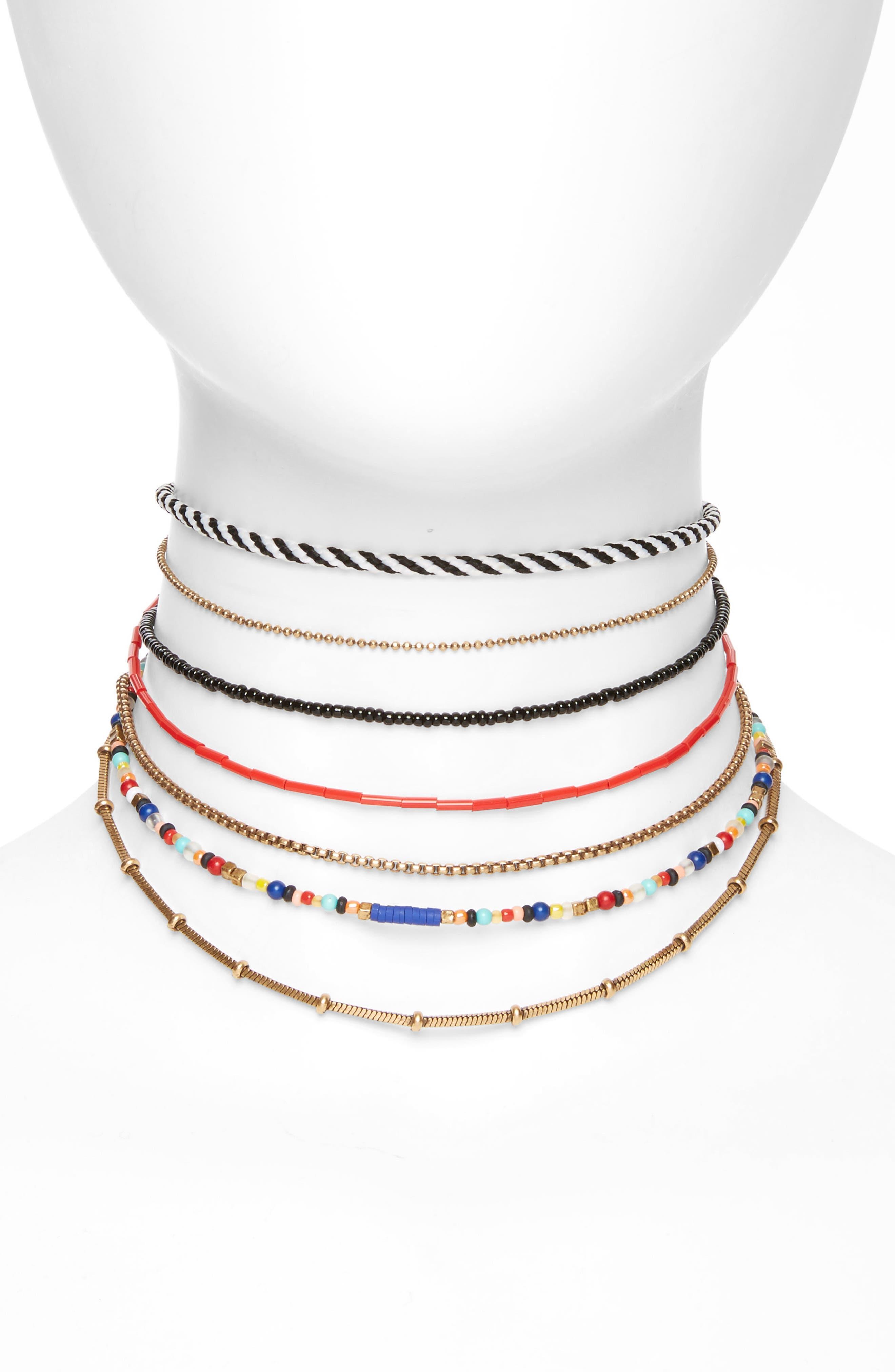 Treasure & Bond 7-Layer Choker Necklace