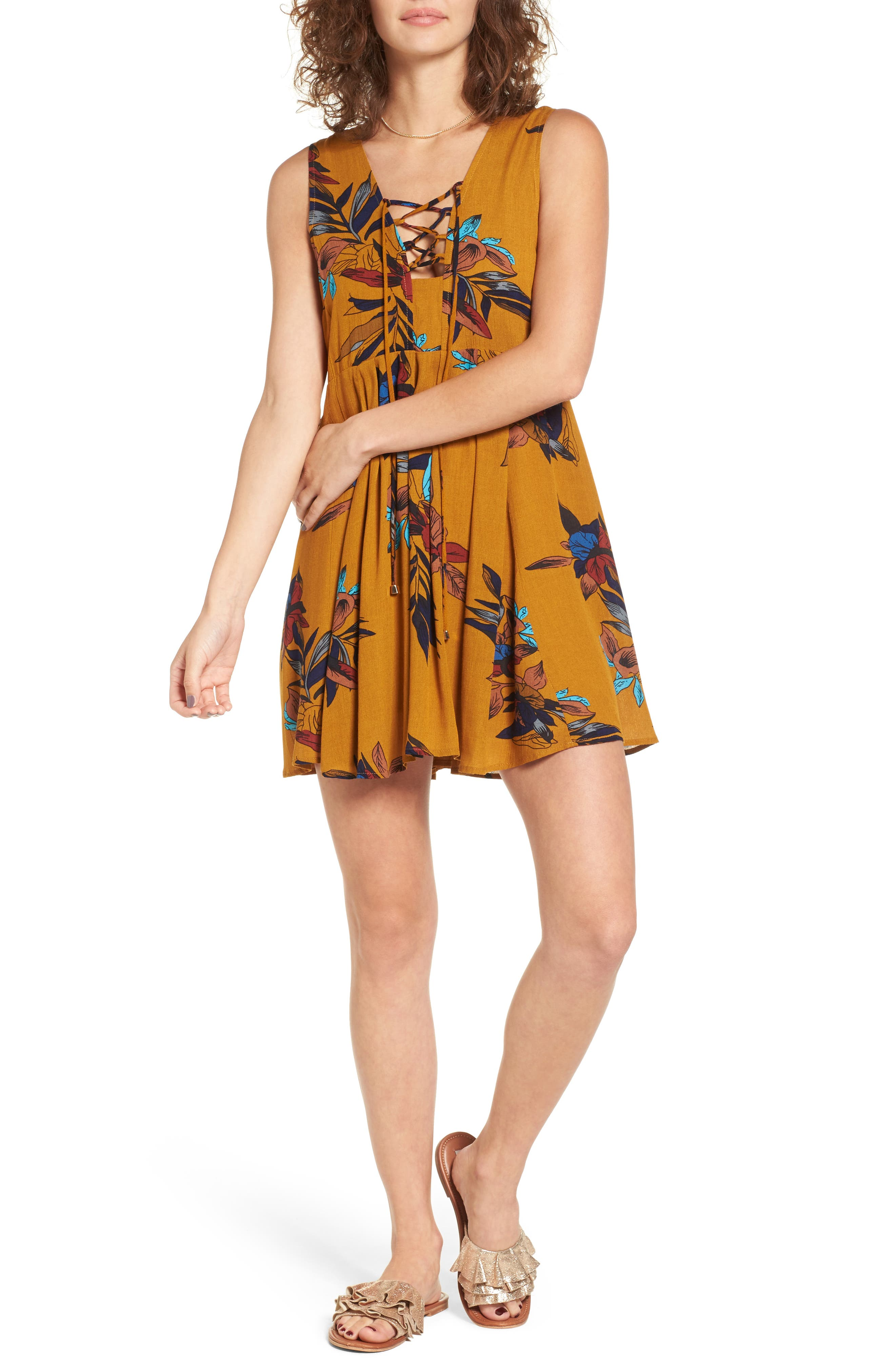 Everly Lace-Up Skater Dress