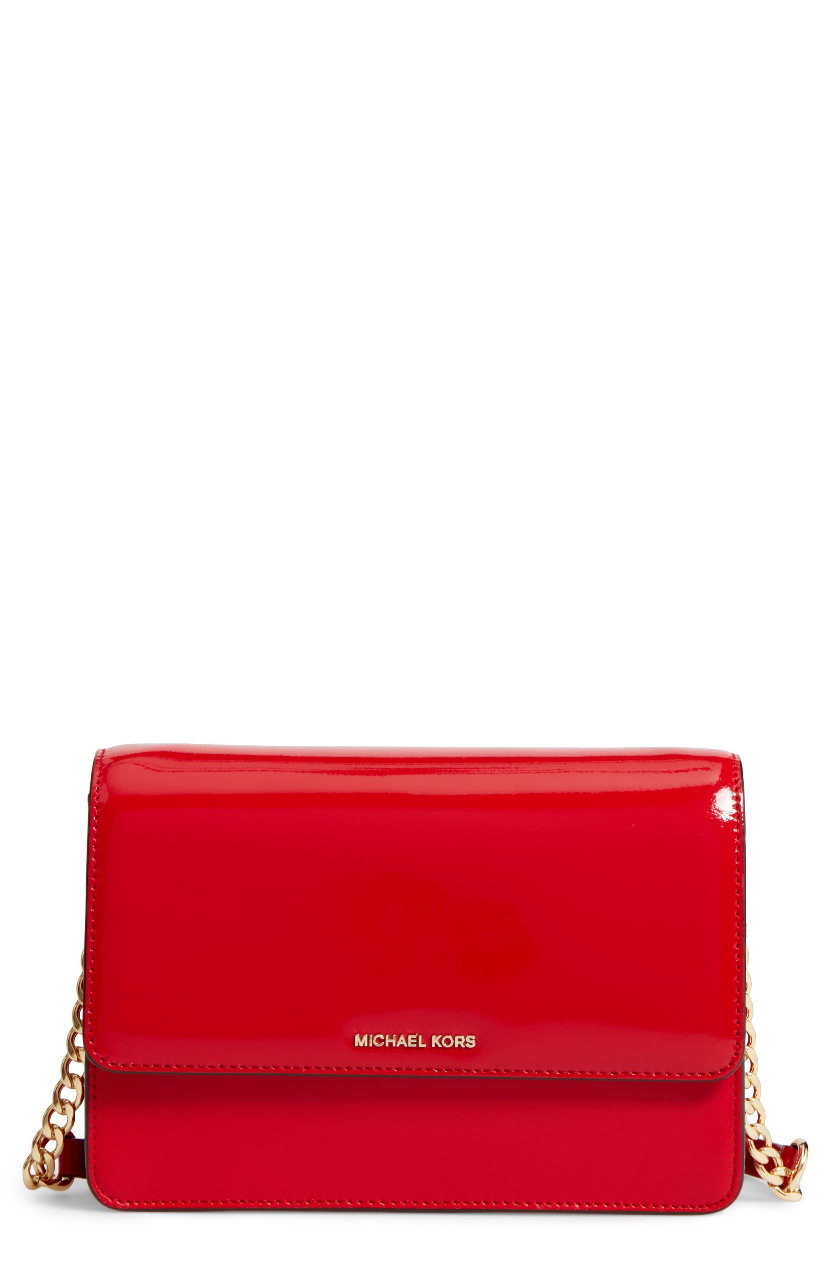 Alternate Image 1 Selected - MICHAEL Michael Kors Large Daniela Leather Crossbody Bag