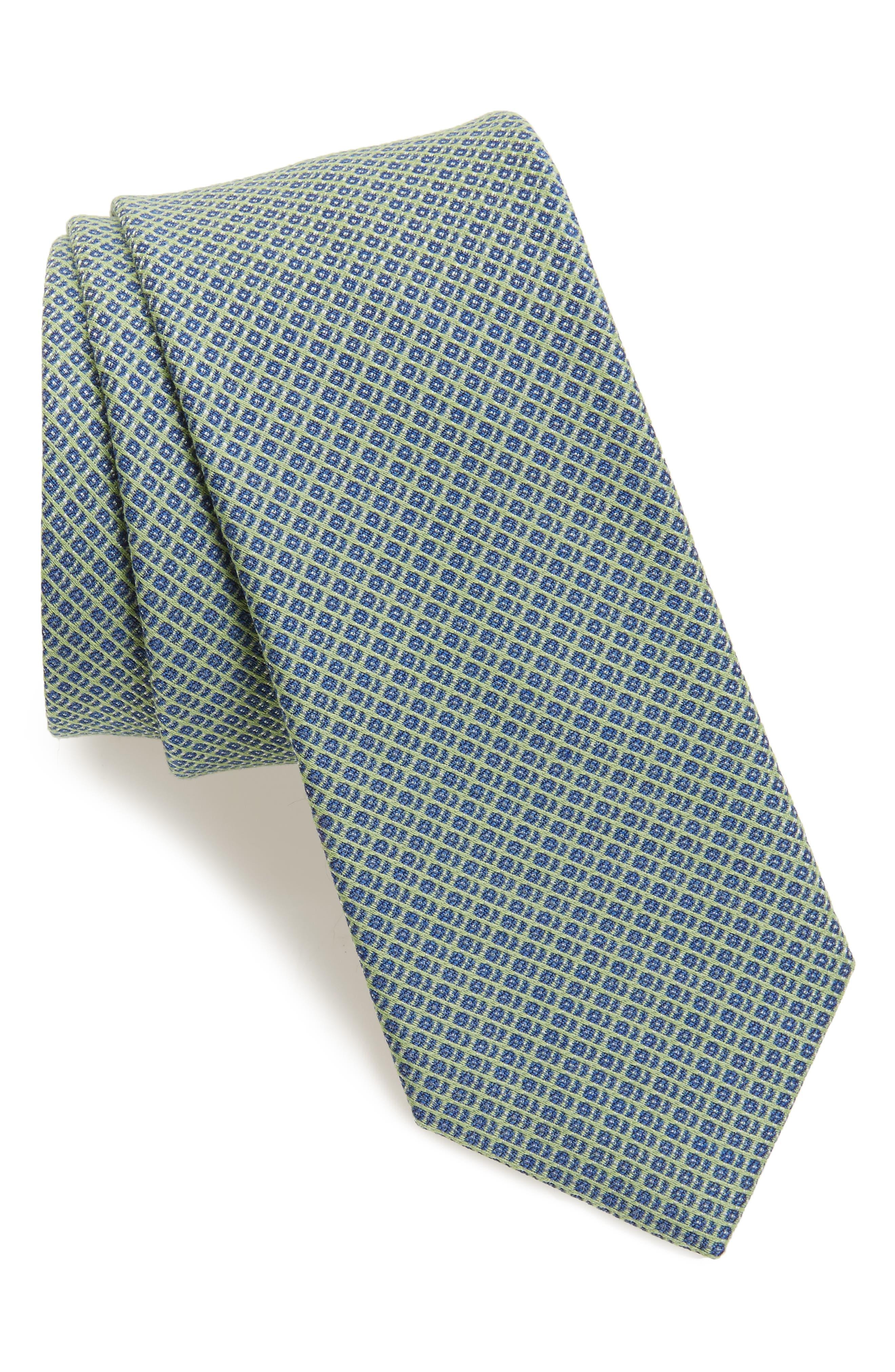 Nordstrom Men's Shop Geometric Silk Blend Tie