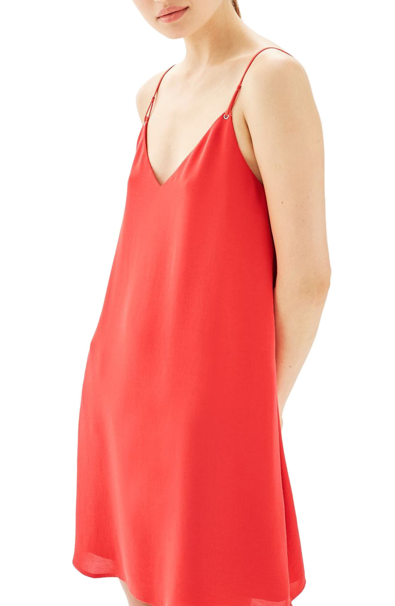 Topshop Hammered Trapeze Slipdress