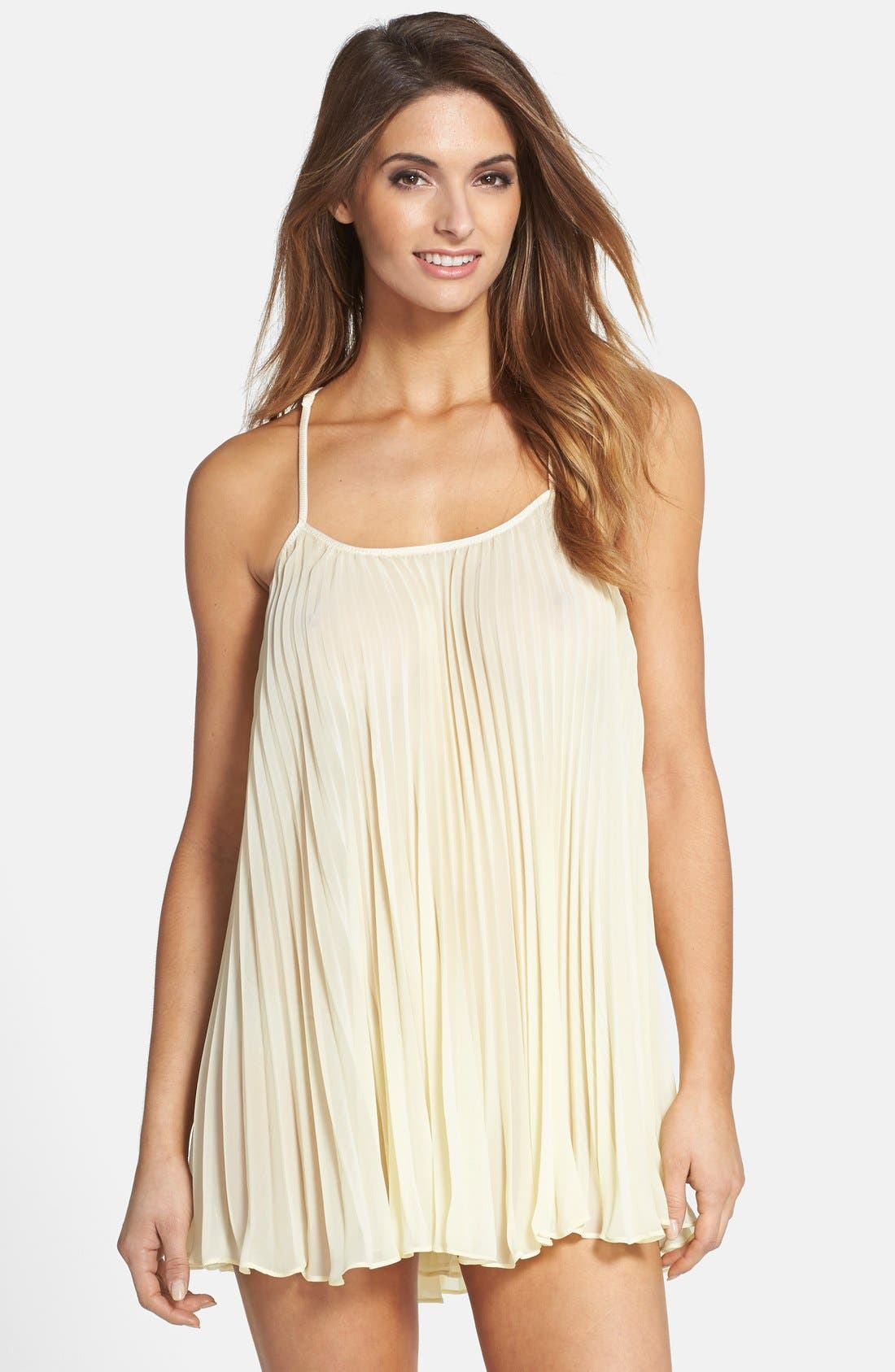 Alternate Image 1 Selected - In Bloom by Jonquil 'Sunburst' Pleated Chemise