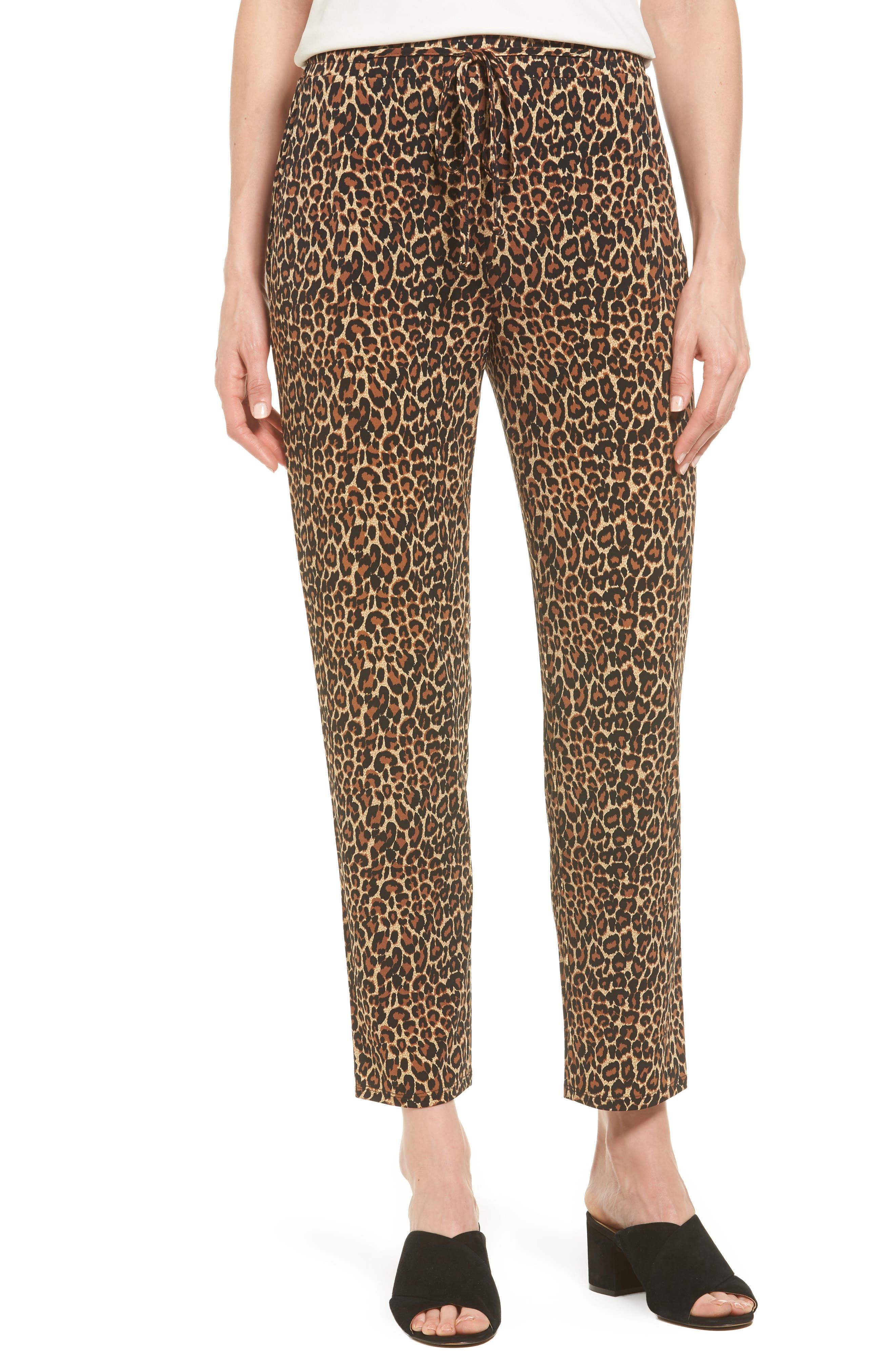 Chaus Leopard Print Drawstring Pants
