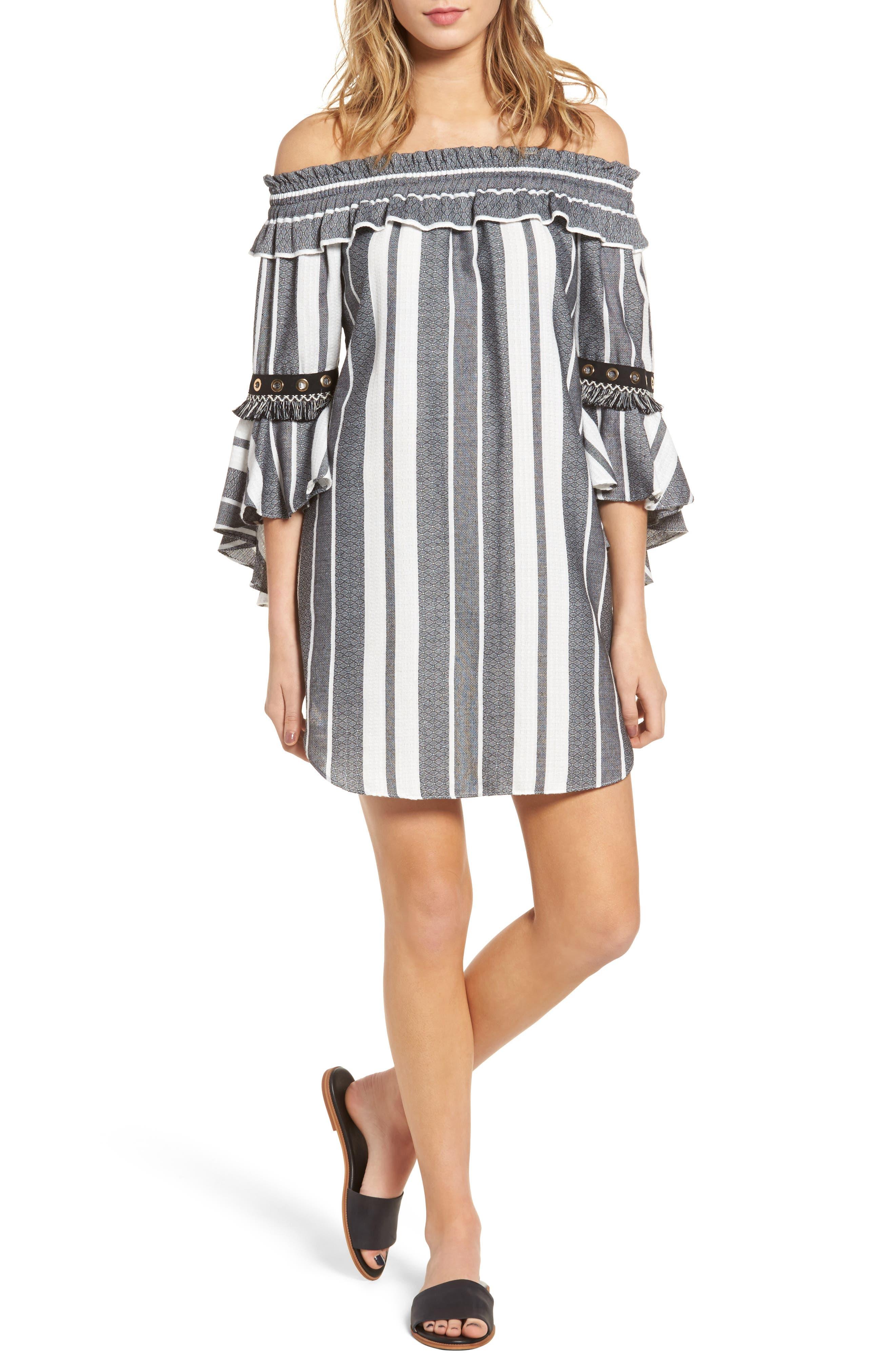 MISA Los Angeles Cybele Off the Shoulder Dress
