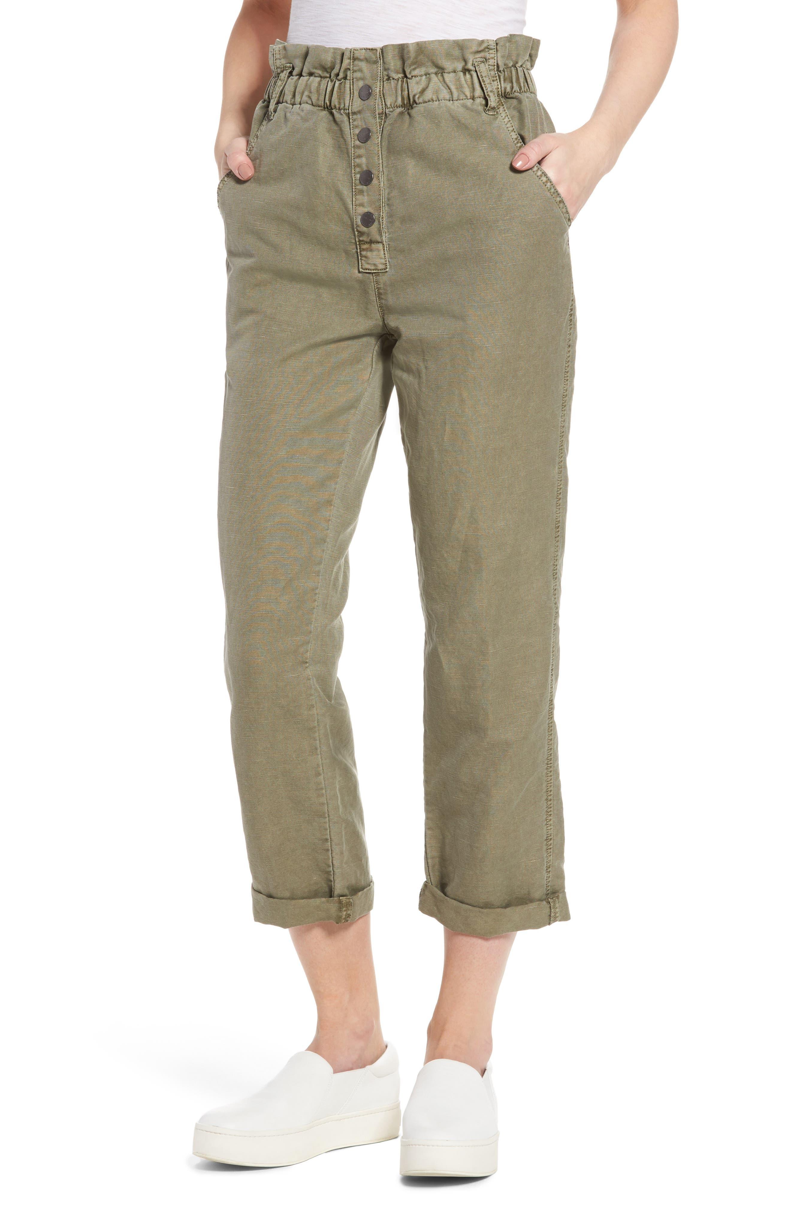 Current/Elliott Paperbag Fling High Waist Ankle Pants