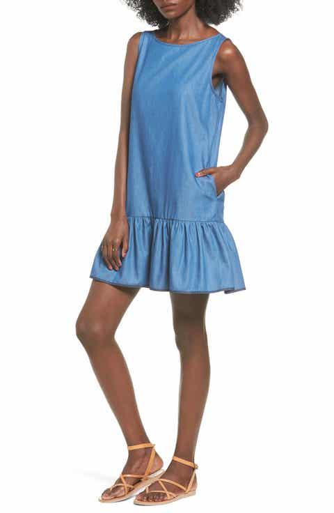 BP. Chambray Drop Waist Dress
