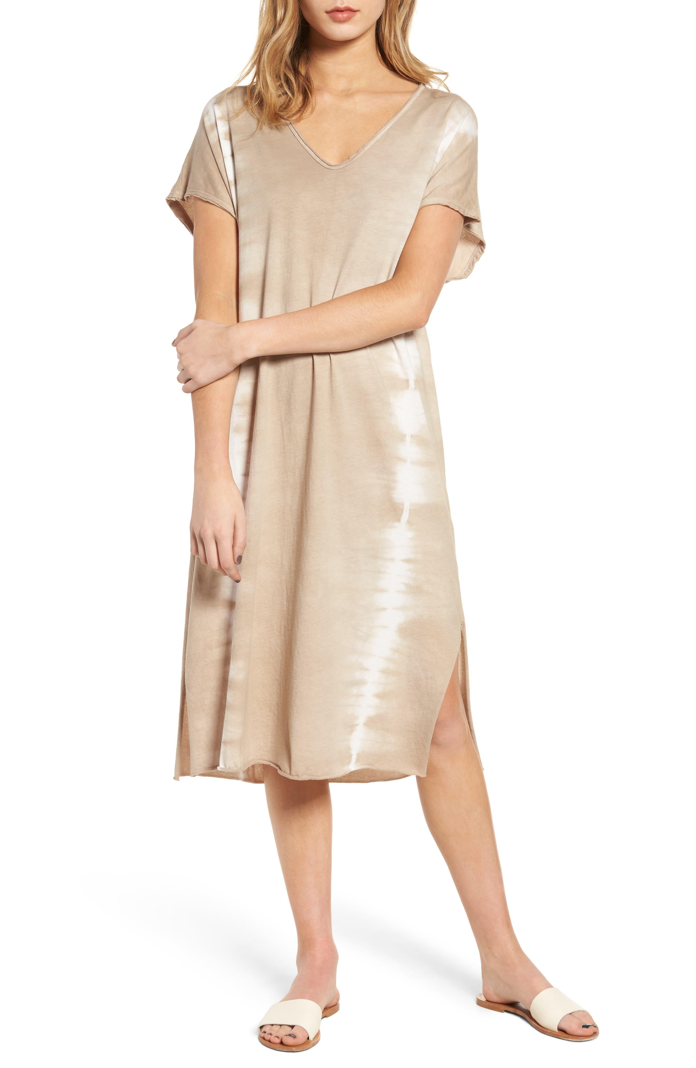 Lush Braid Detail Tie Dye Dress
