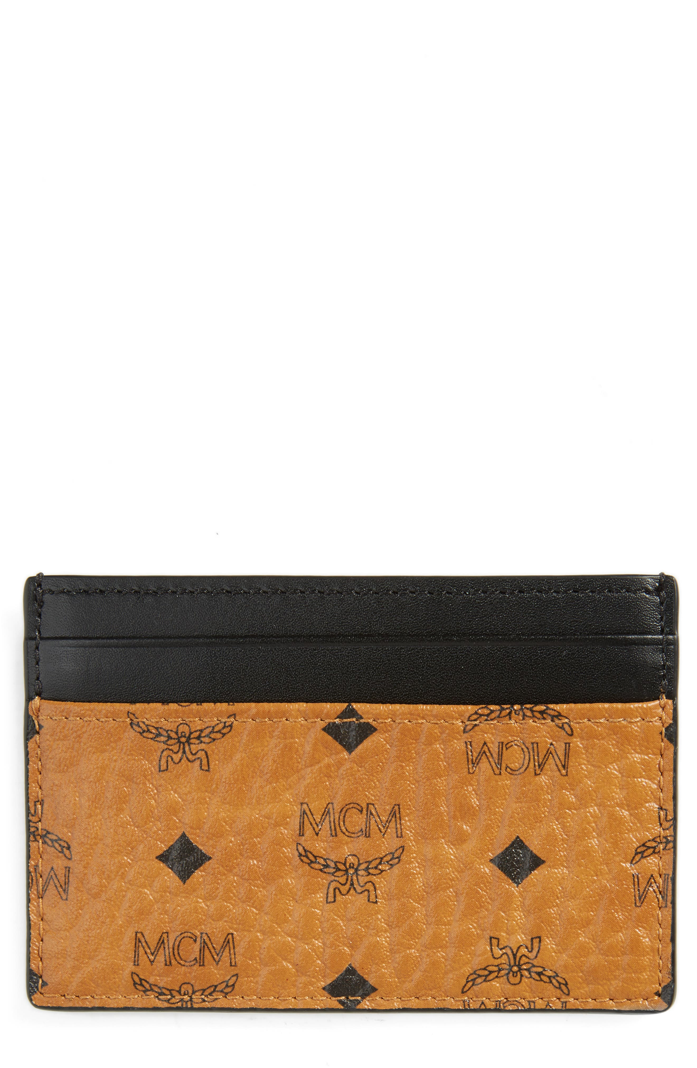 MCM Claus Coated Canvas Card Case