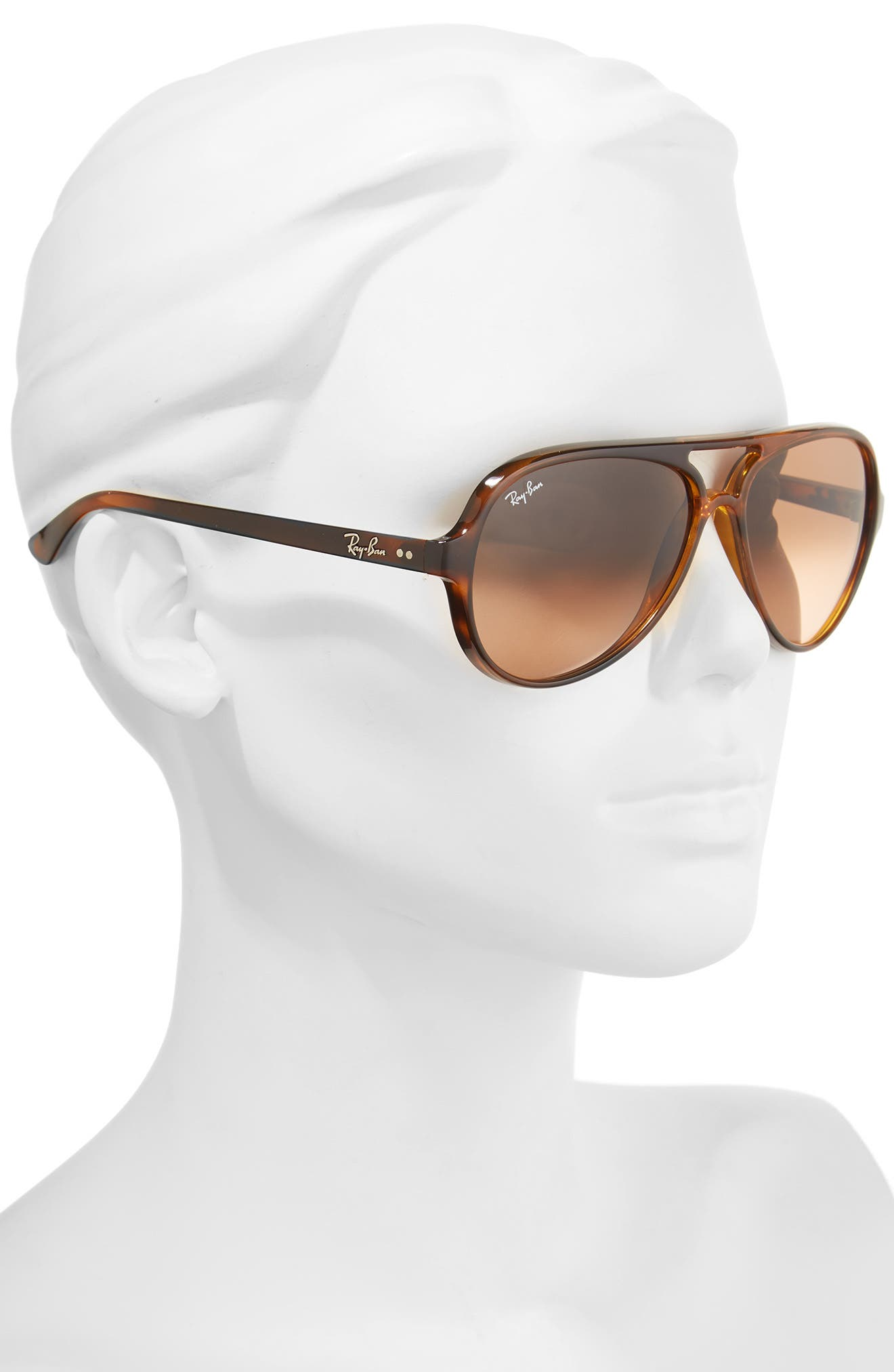 Alternate Image 2  - Ray-Ban 59mm Resin Aviator Sunglasses