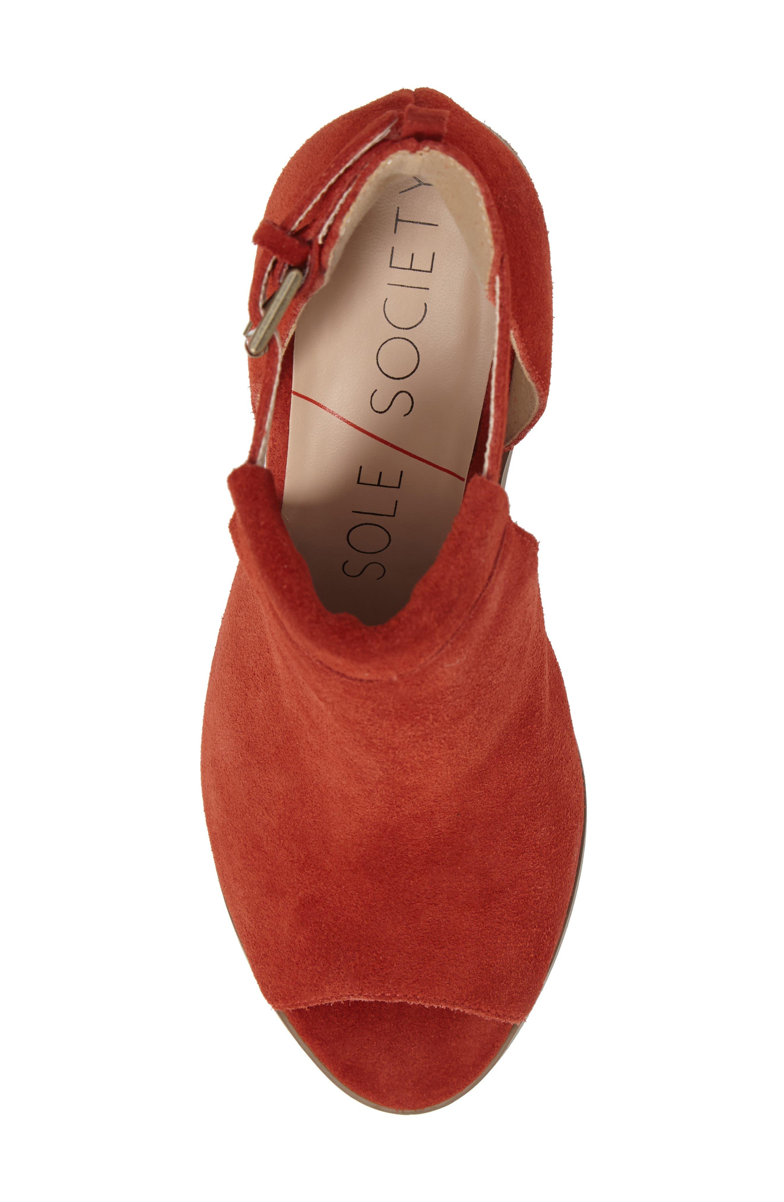 Alternate Image 5  - Sole Society 'Ferris' Open Toe Bootie (Women)