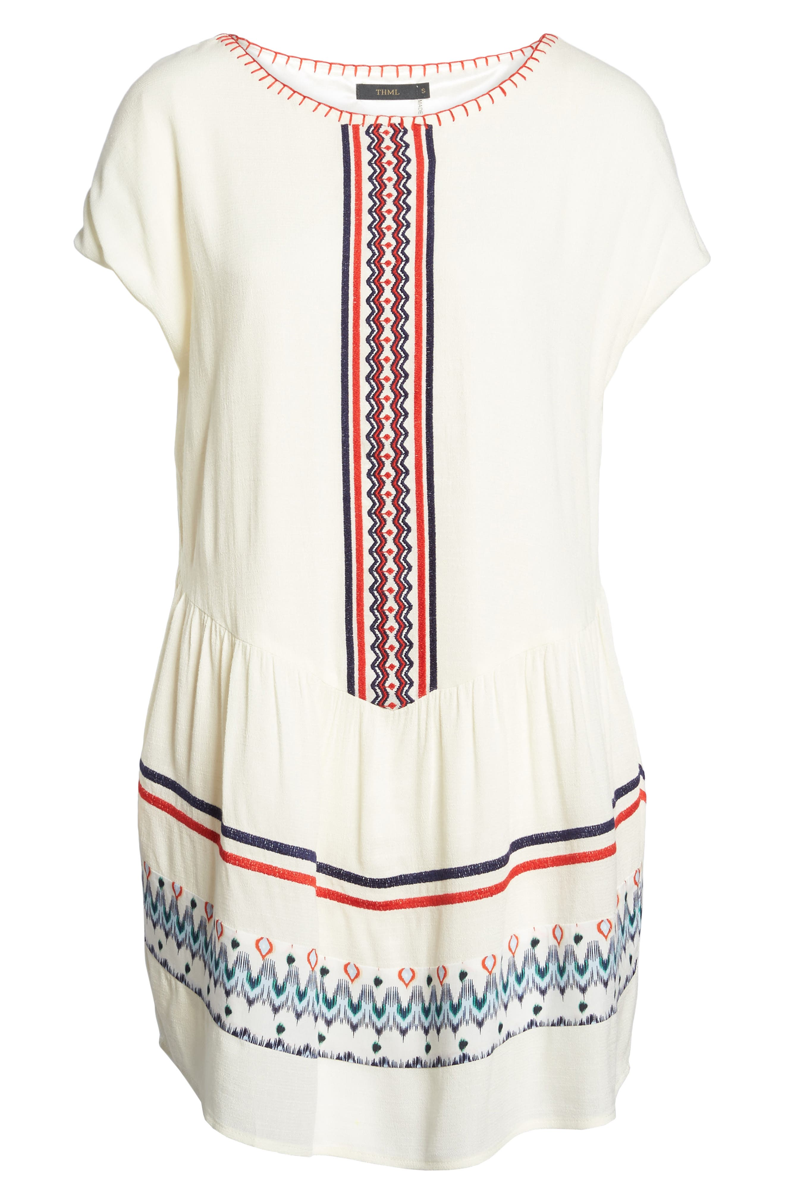 Alternate Image 6  - THML Embroidered Tunic Dress