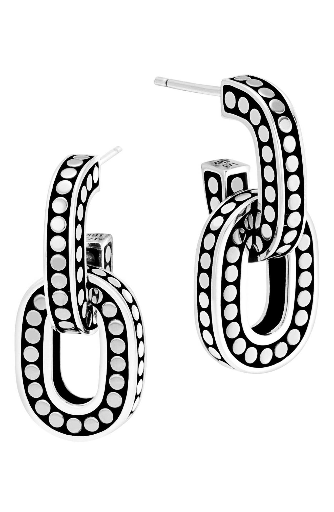 John Hardy Dot Drop Earrings