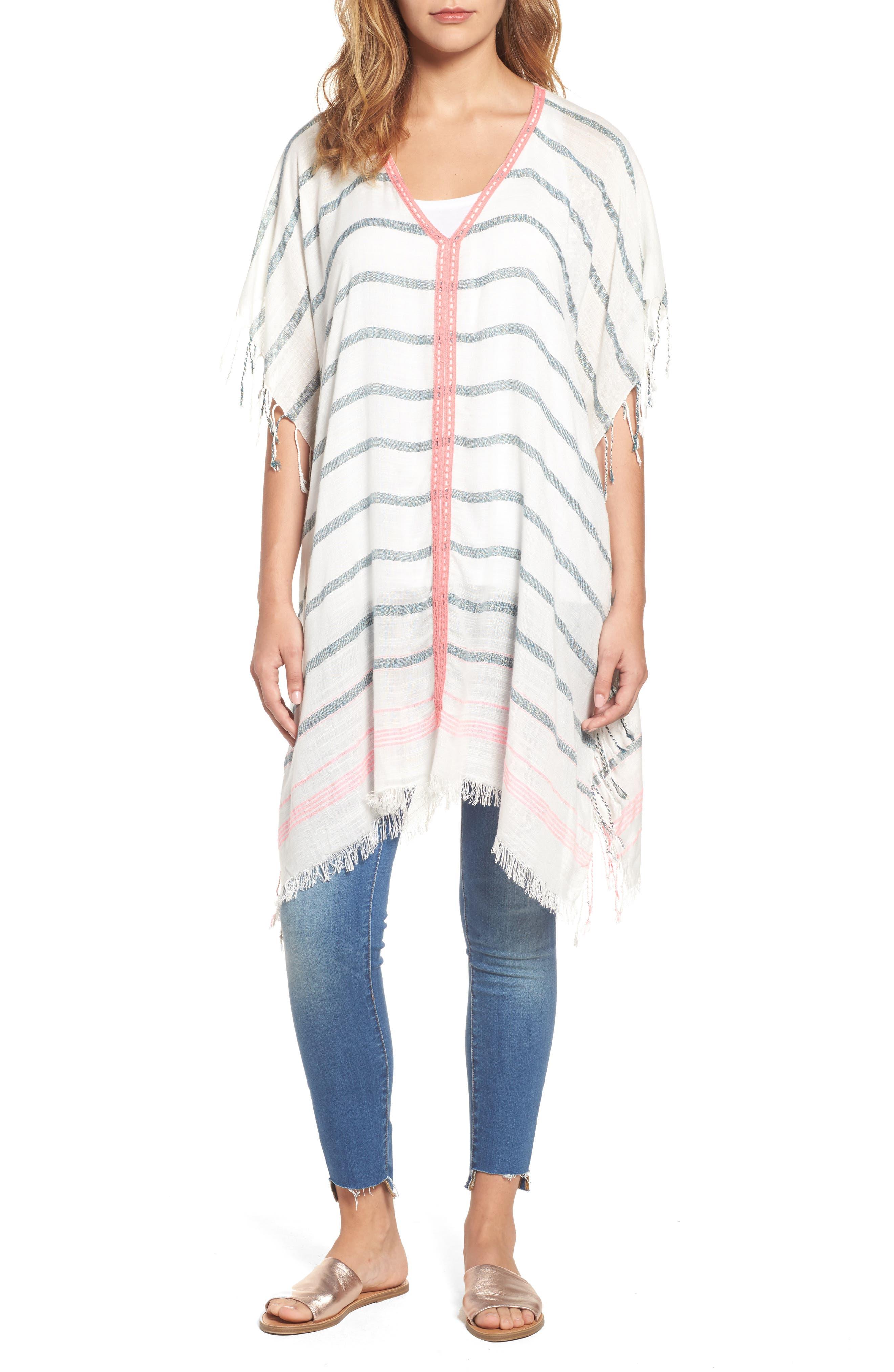 Sole Society Stripe Poncho