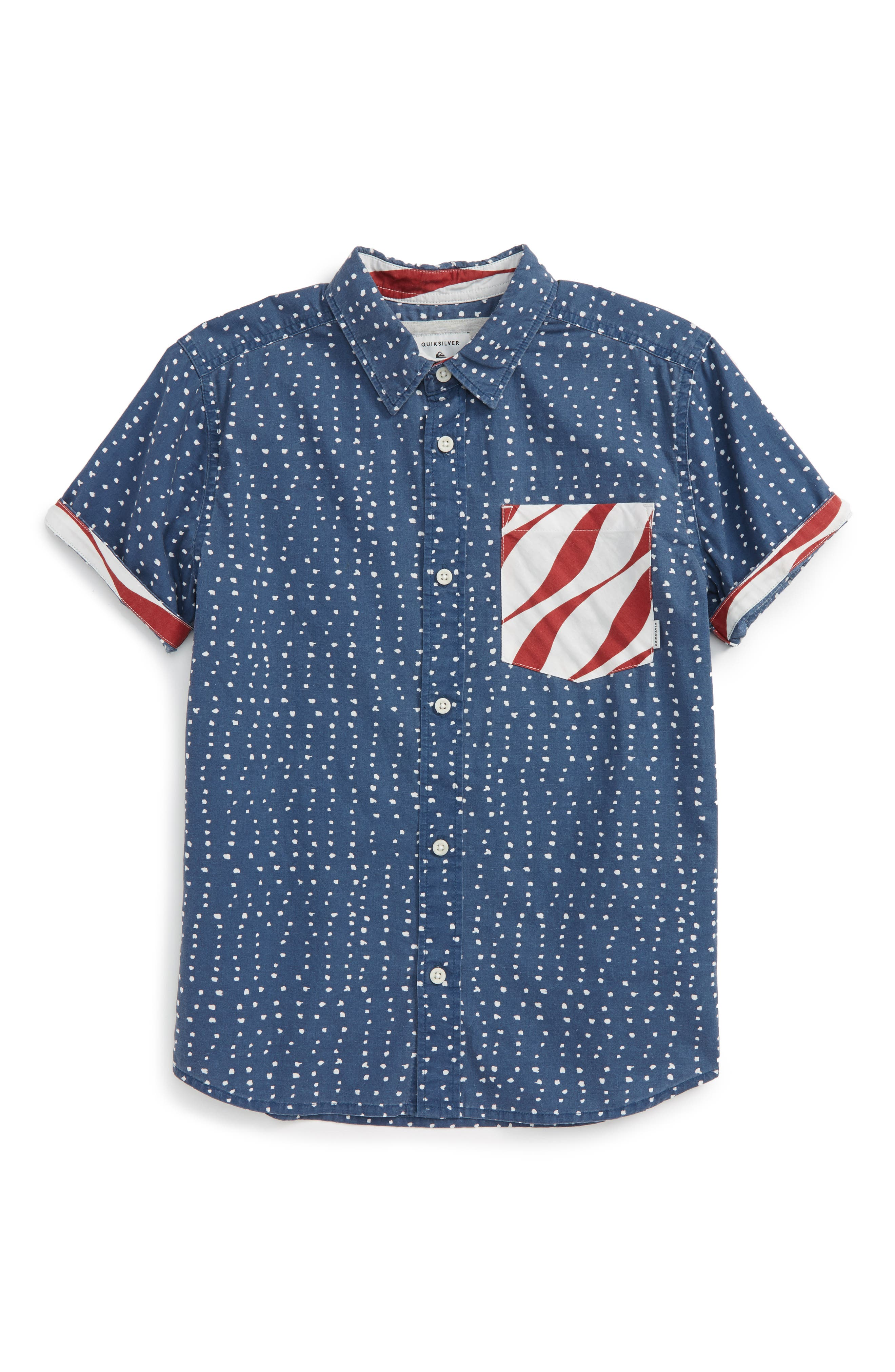 Quiksilver New American Short Sleeve Woven Shirt (Big Boys)