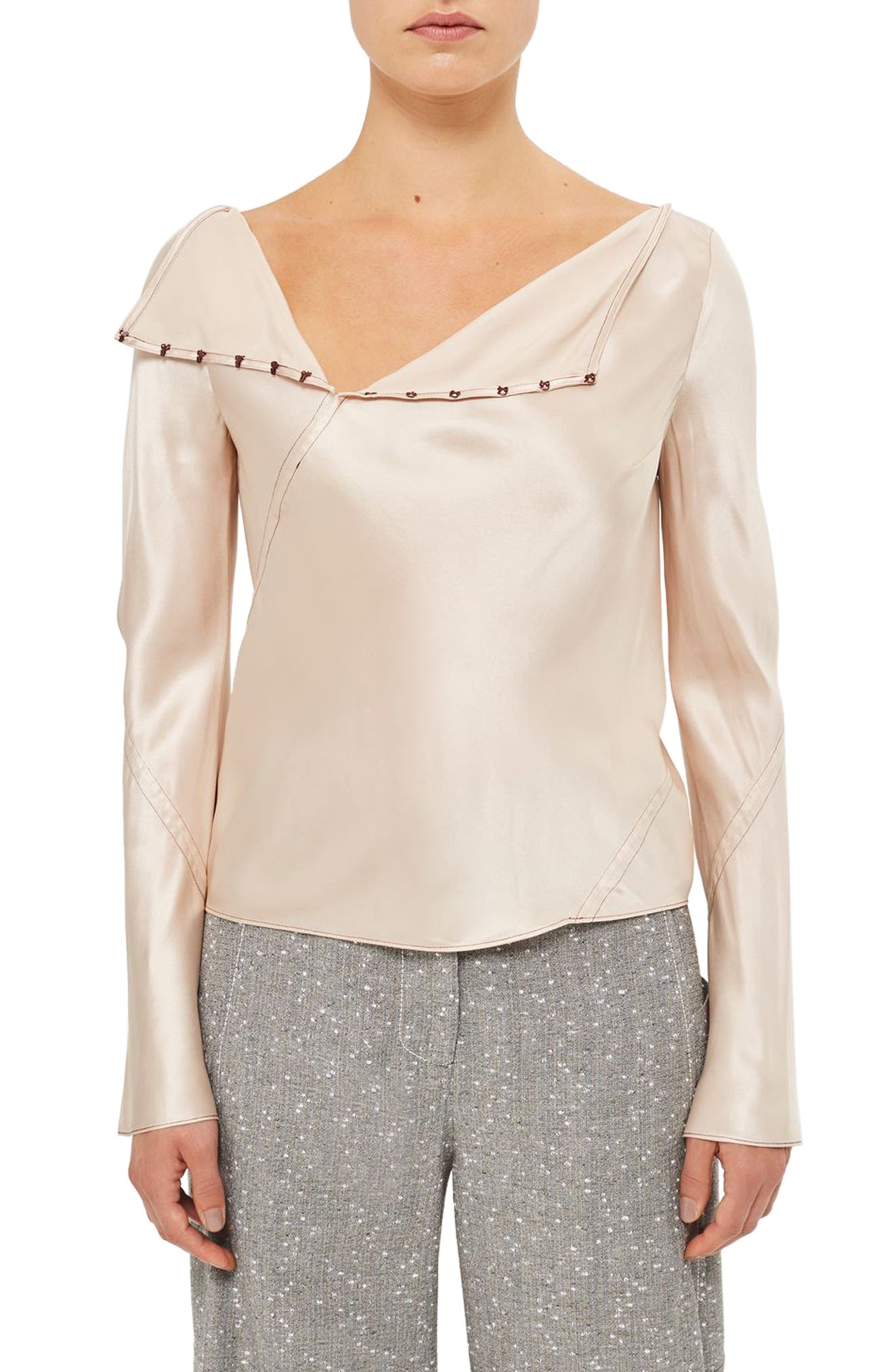 Topshop Unique Inspiral Silk Blouse