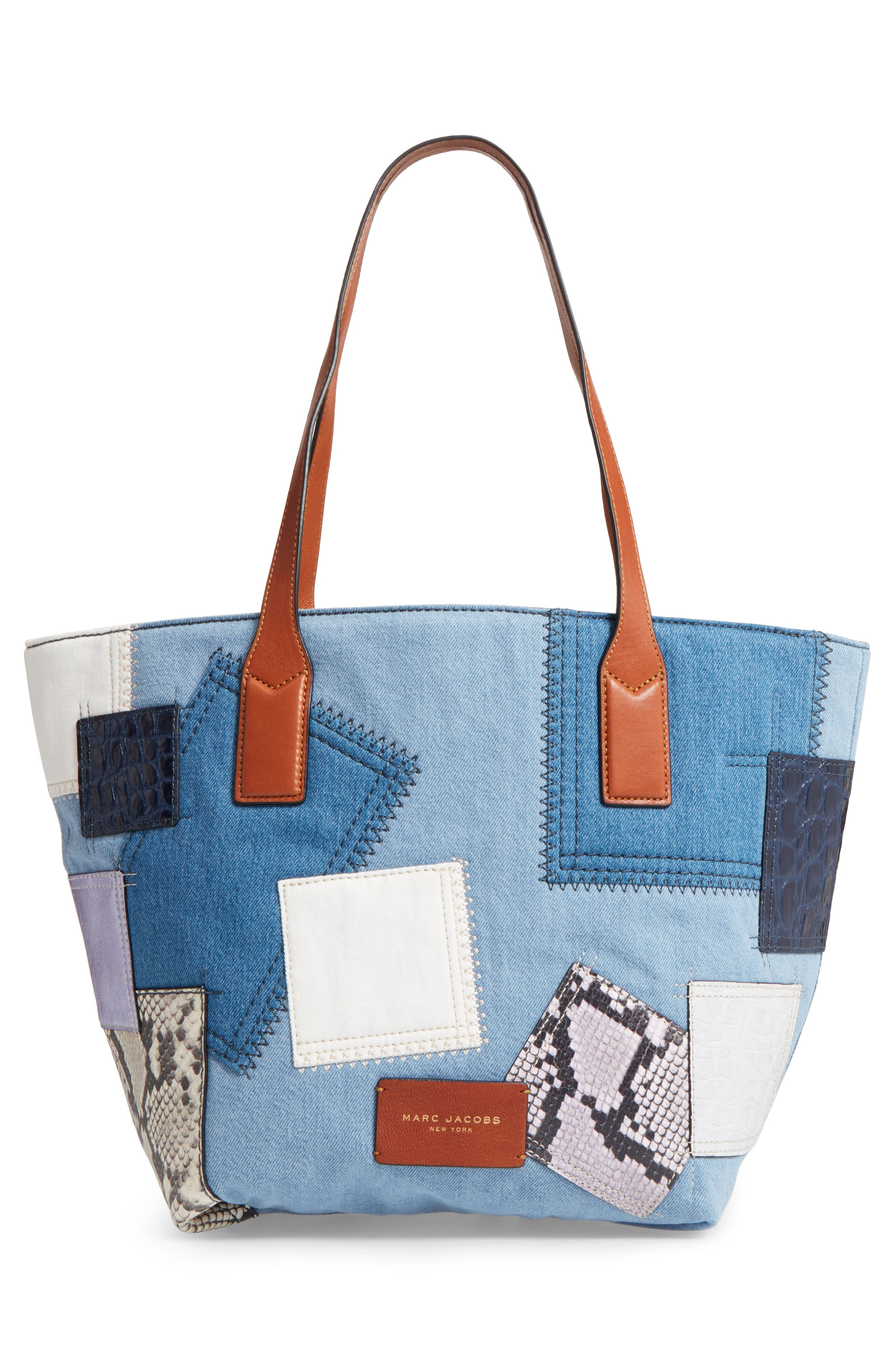 Alternate Image 2  - MARC JACOBS Wingman Denim Patchwork Tote