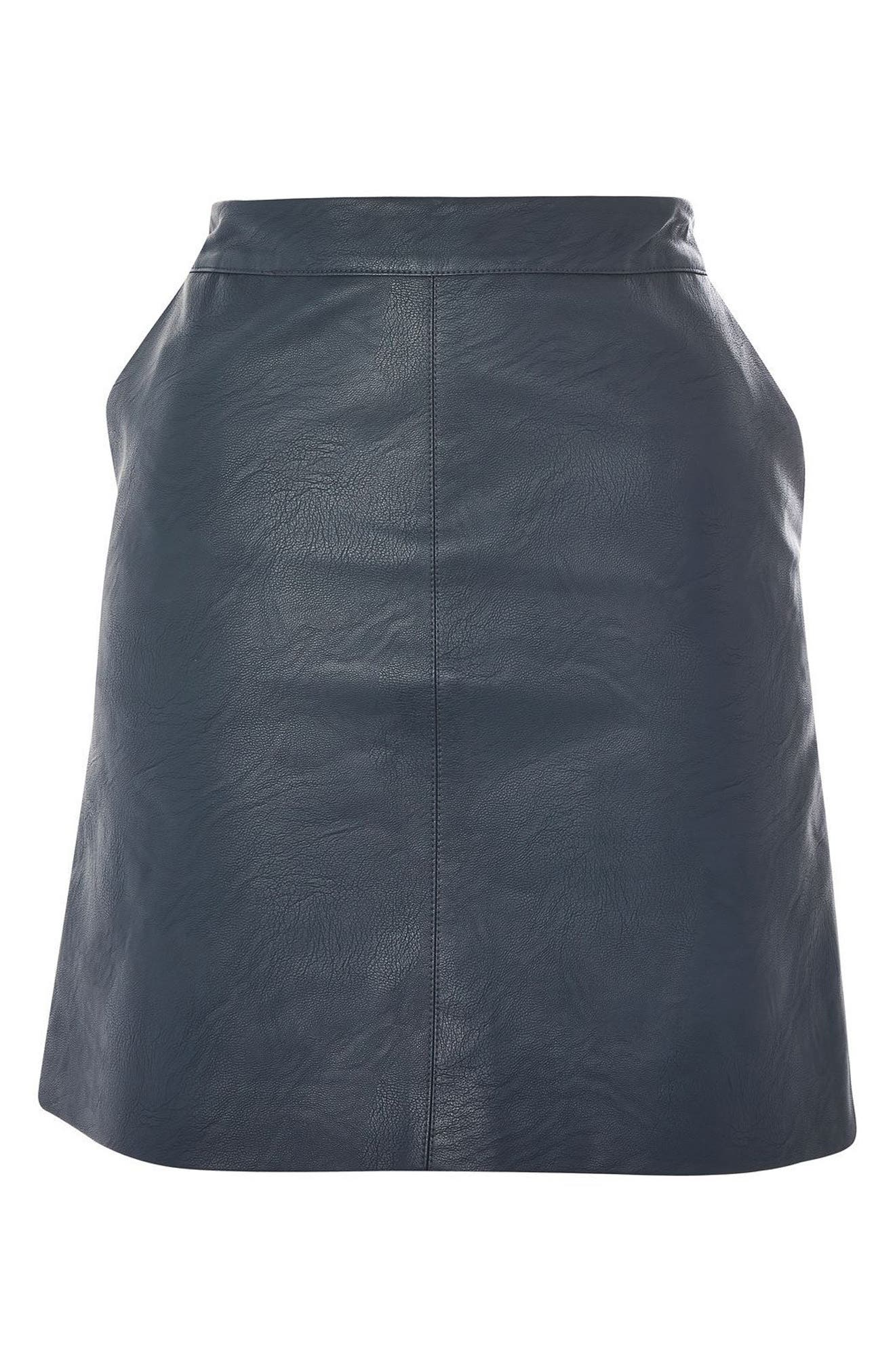 Alternate Image 5  - Topshop Faux Leather Skirt
