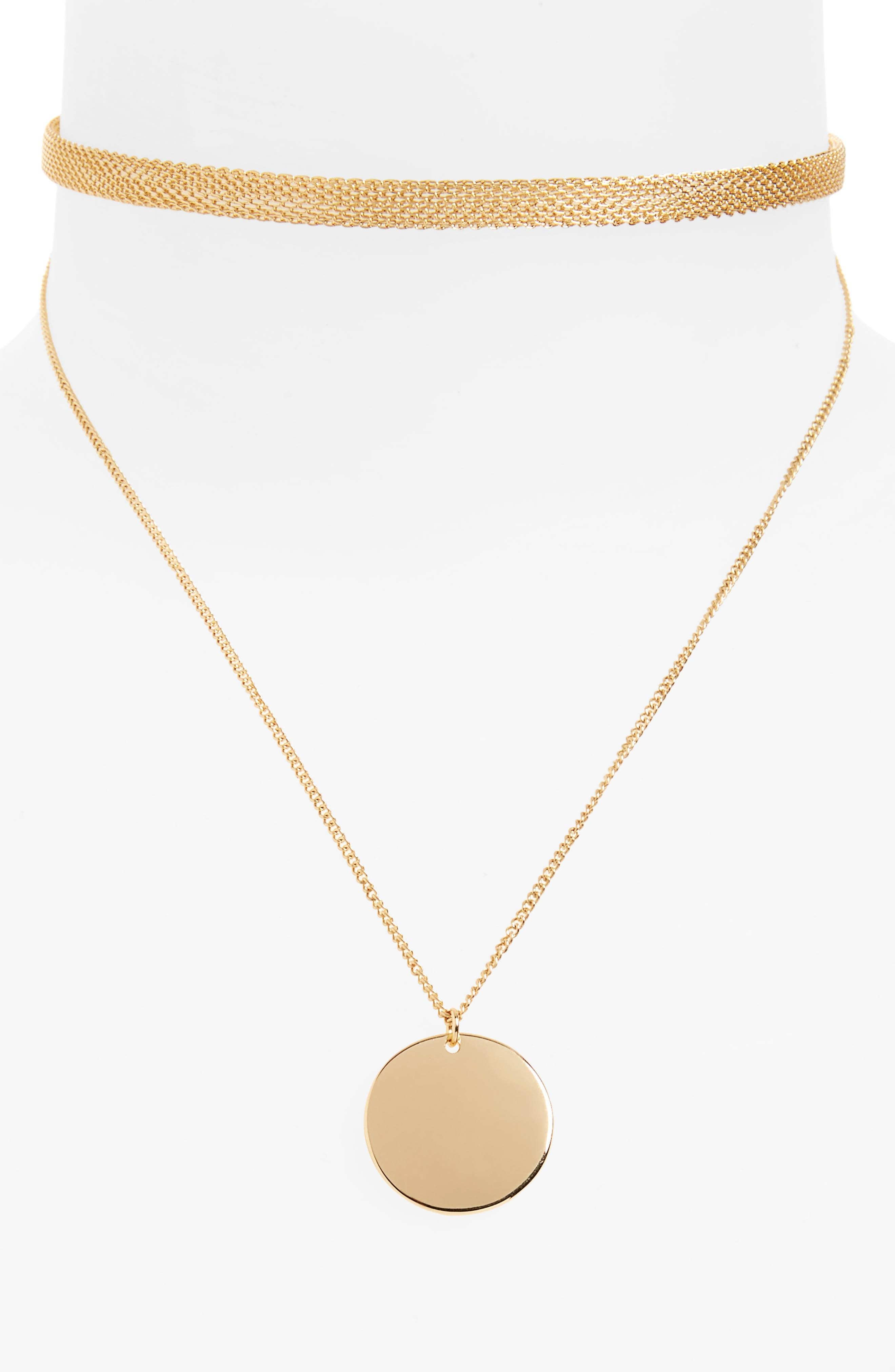 BP. Chain Link Choker & Pendant Necklace Set