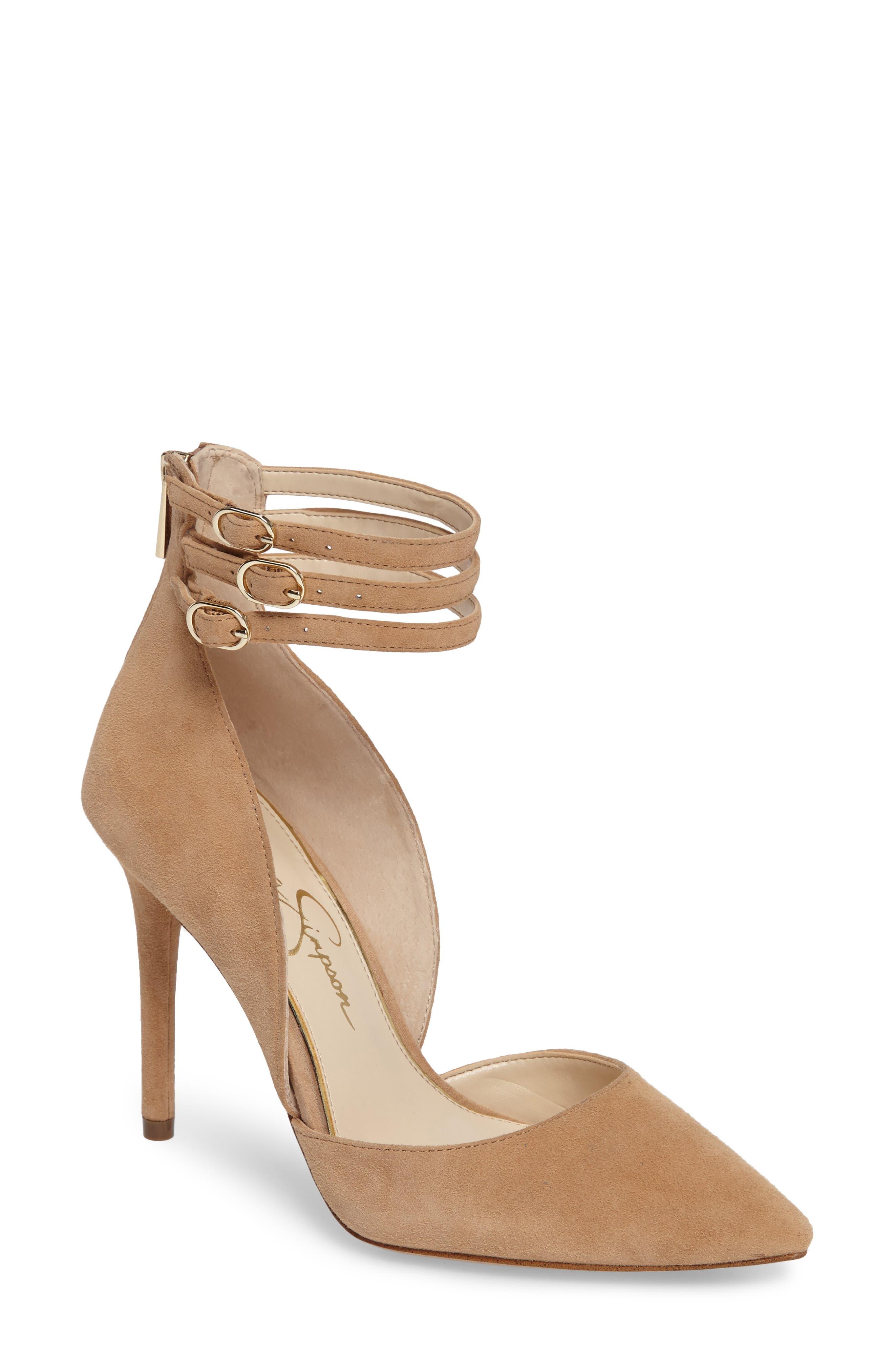 Jessica Simpson Linnee Ankle Strap Pump (Women)