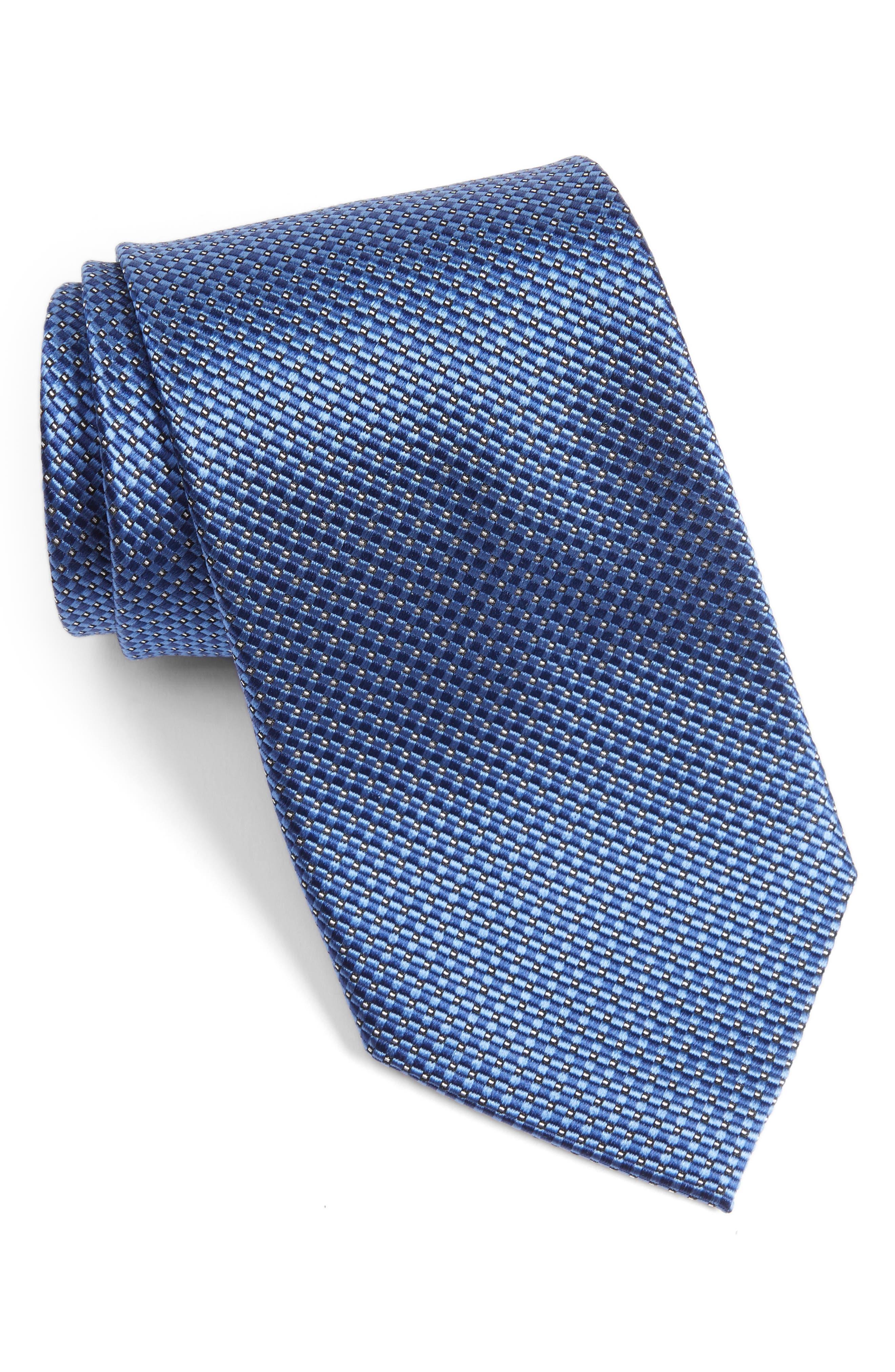 Nordstrom Men's Shop Grid Silk Tie (X-Long)