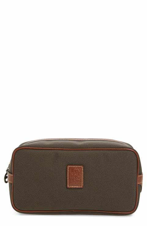 Longchamp Boxford Canvas   Leather Cosmetics Case