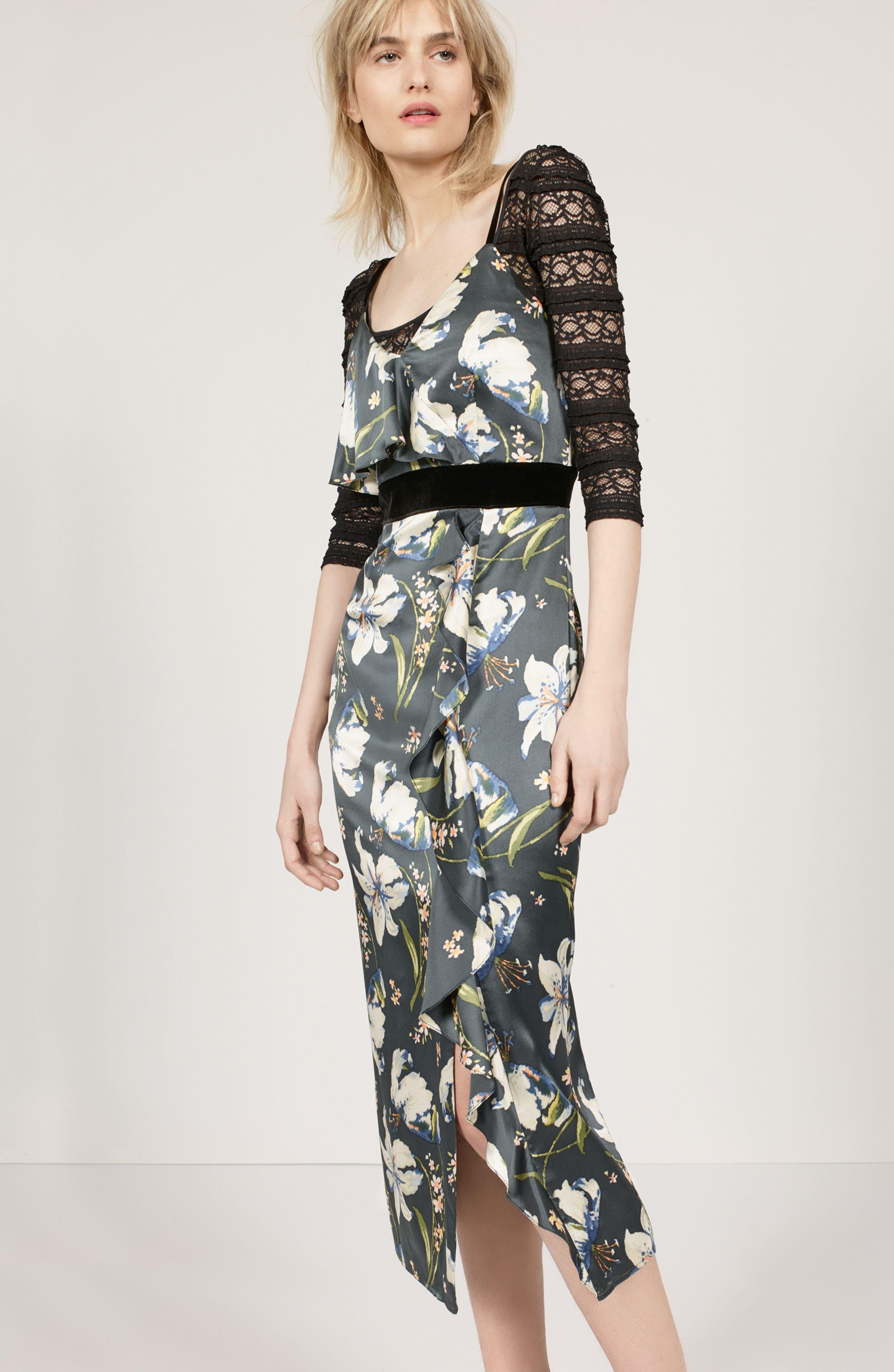 Cinq à Sept Dress & Bodysuit Outfit with Accessories
