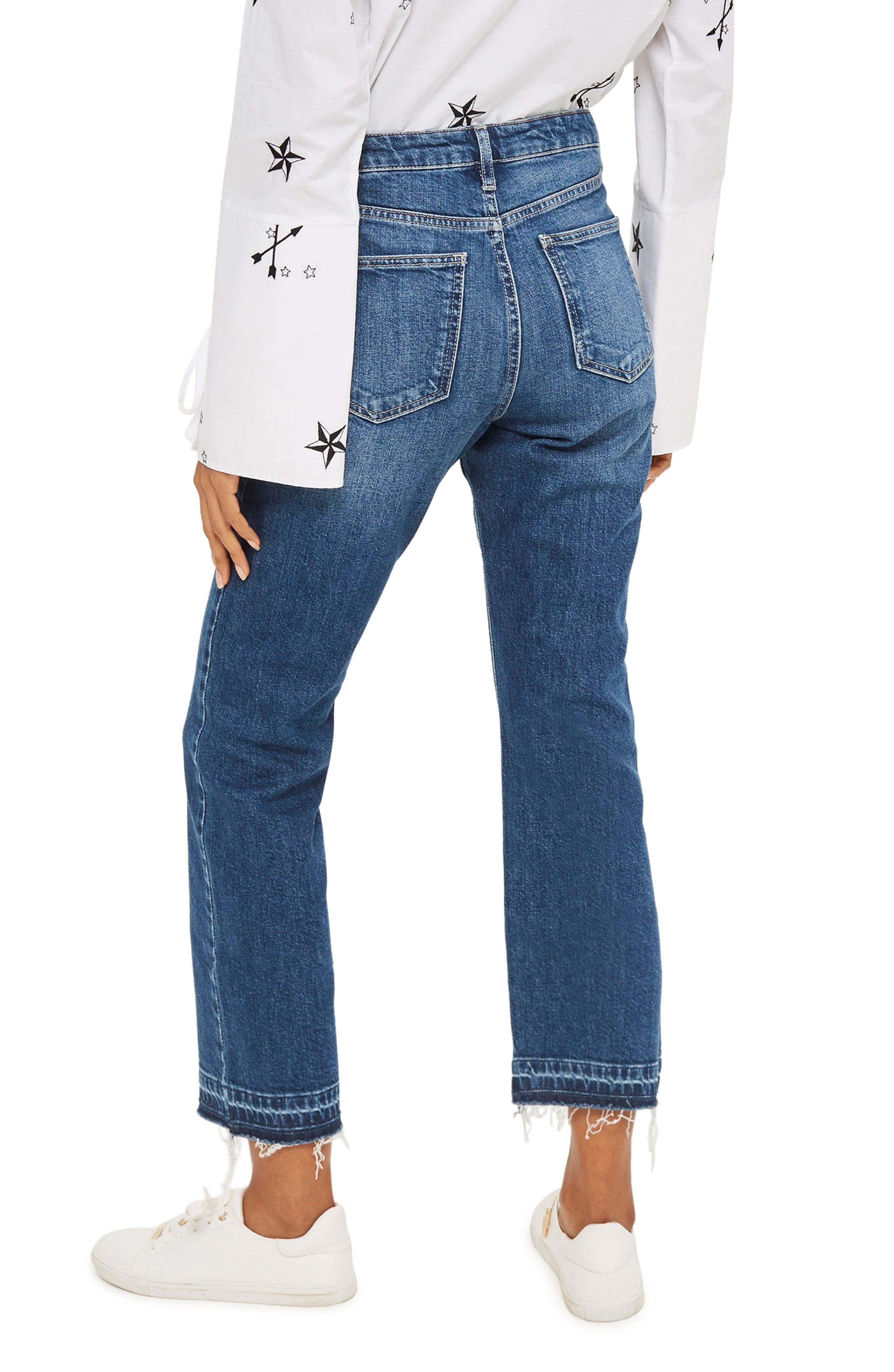 Alternate Image 3  - Topshop Dree Released Hem Flare Jeans