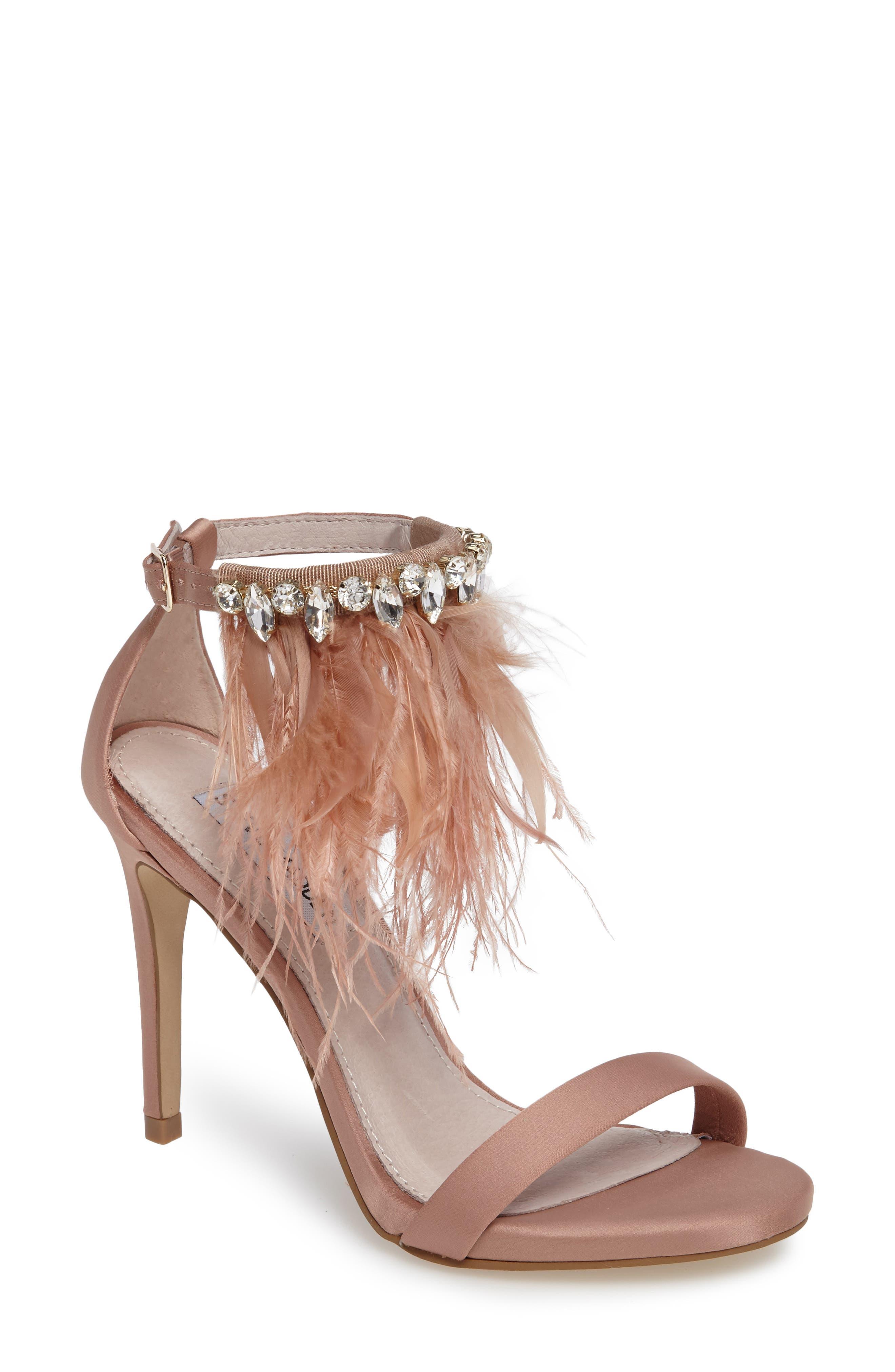 Steve Madden Savanna Embellished Feather Sandal (Women)