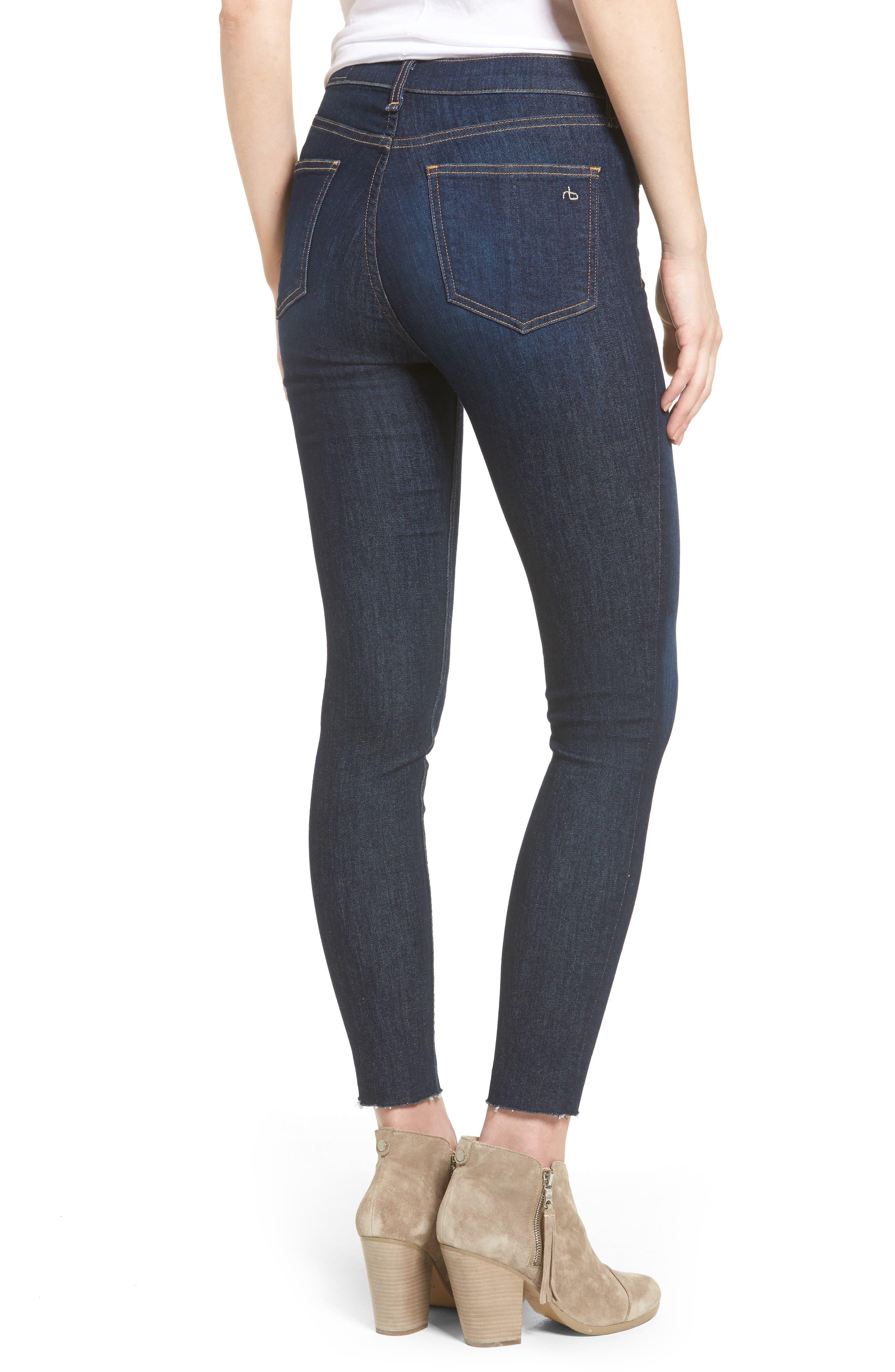Alternate Image 3  - rag & bone/JEAN High Waist Skinny Ankle Jeans (Mad River)