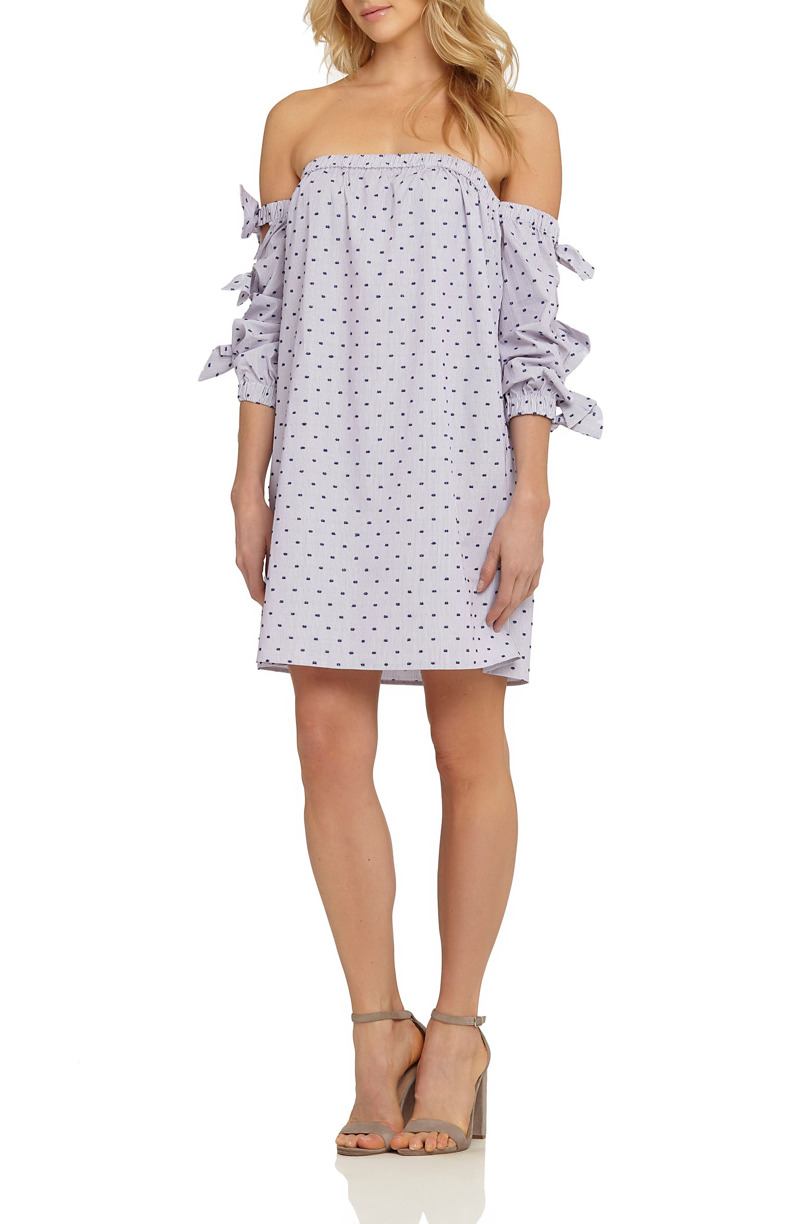CeCe Kellen Cotton Shift Dress