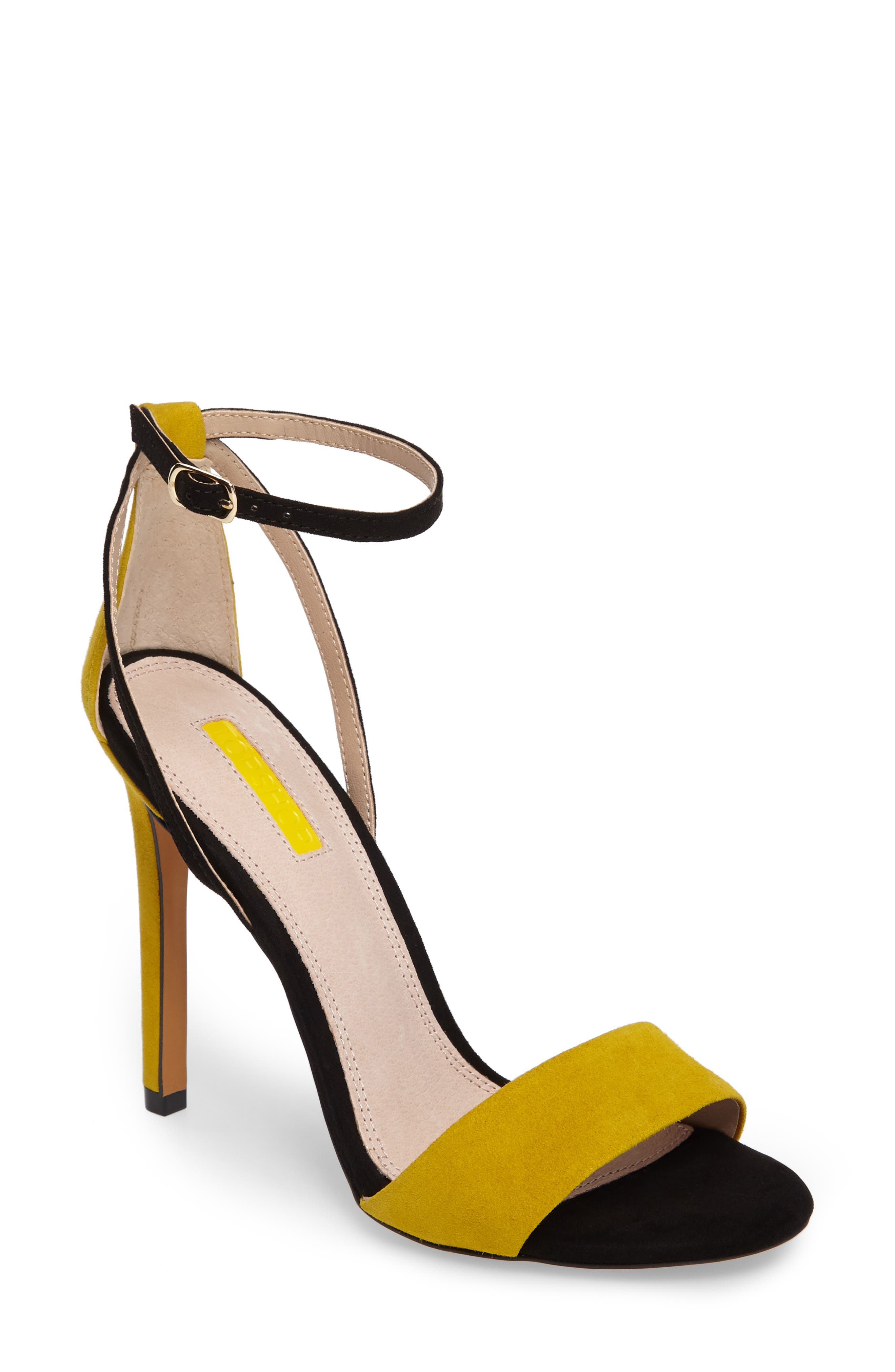 Main Image - Topshop Raphael New Genuine Calf Hair Sandal (Women)