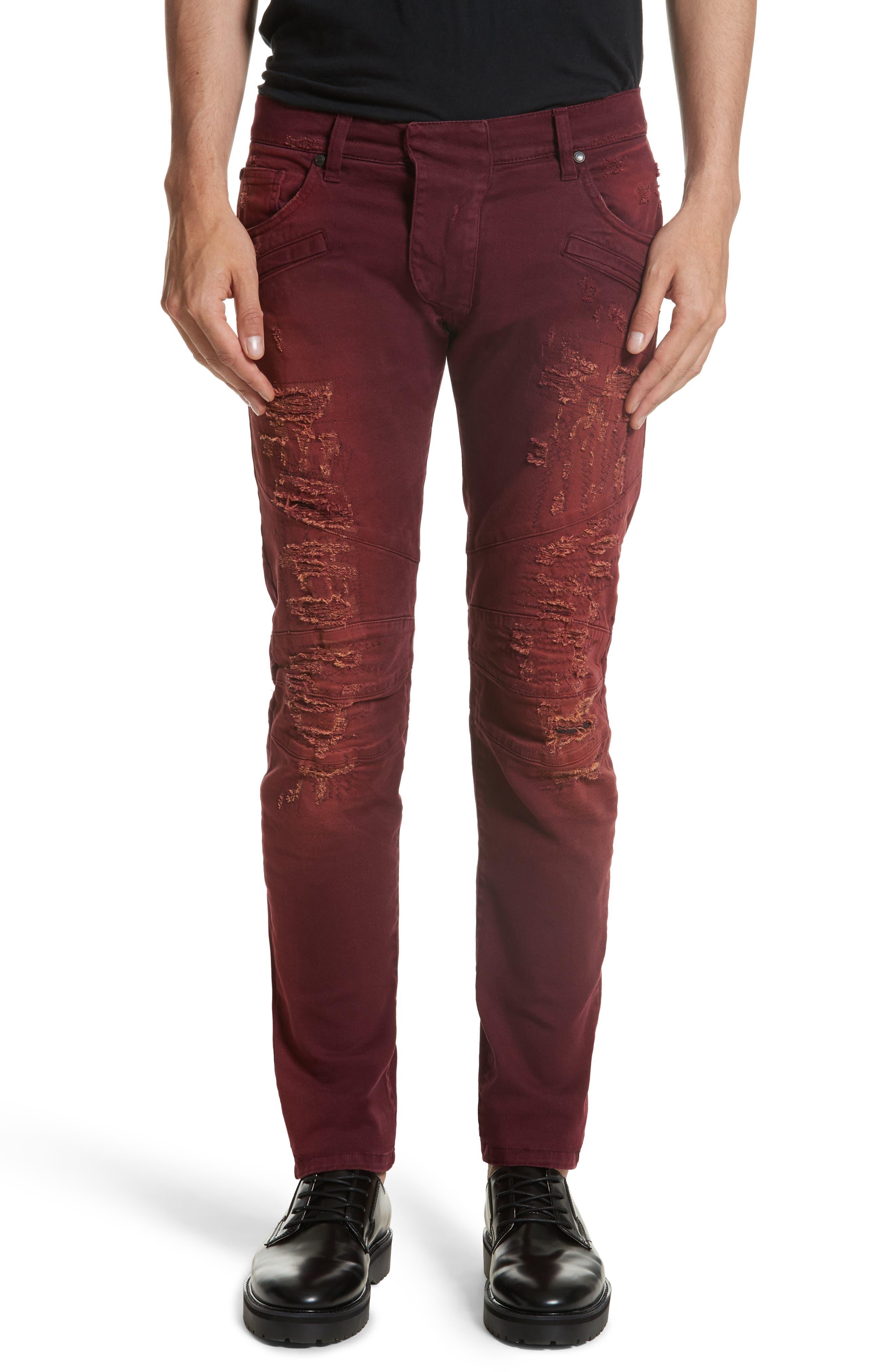 Pierre Balmain Destroyed Jeans