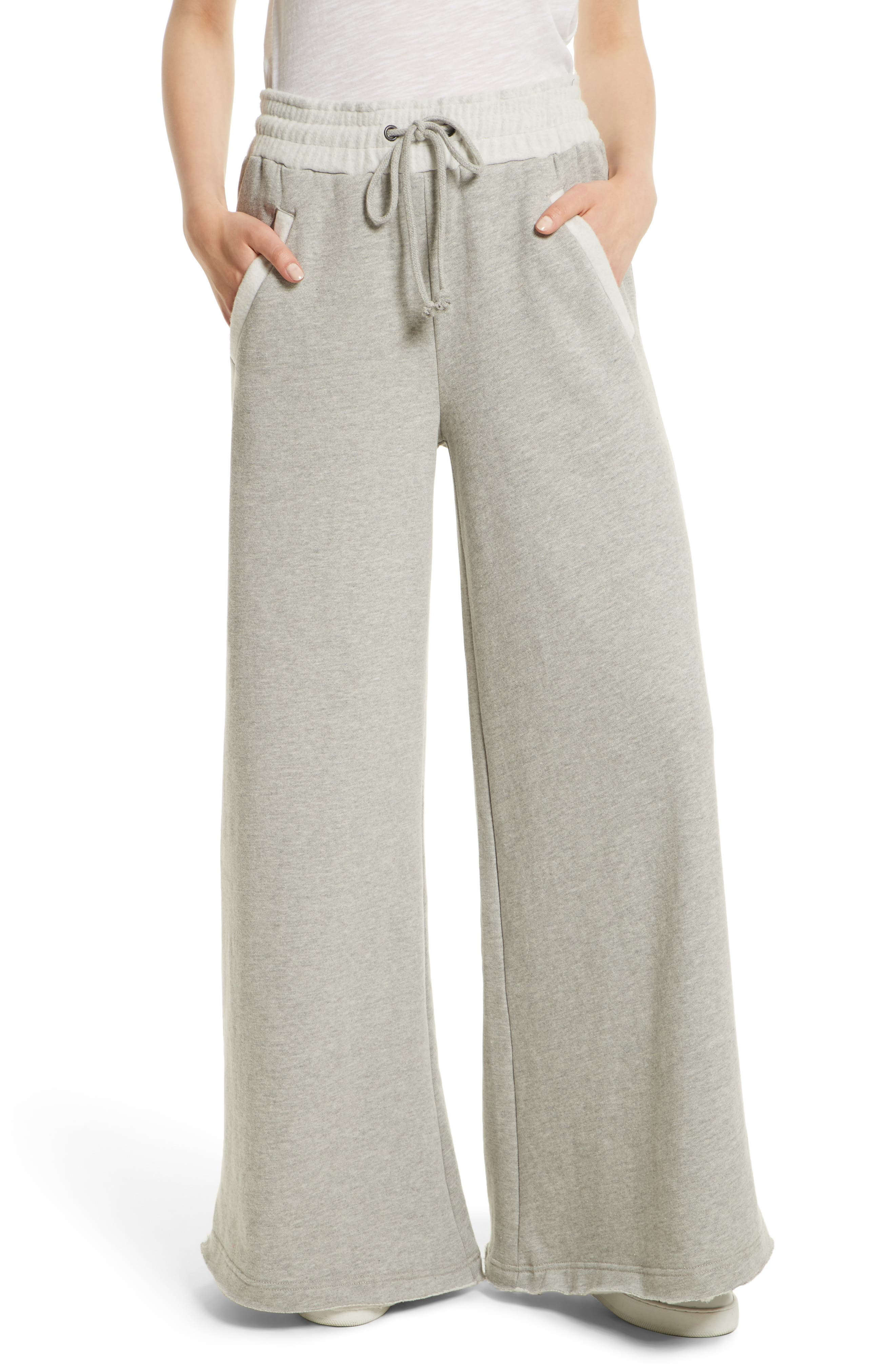 Free People Wide Leg Track Pants