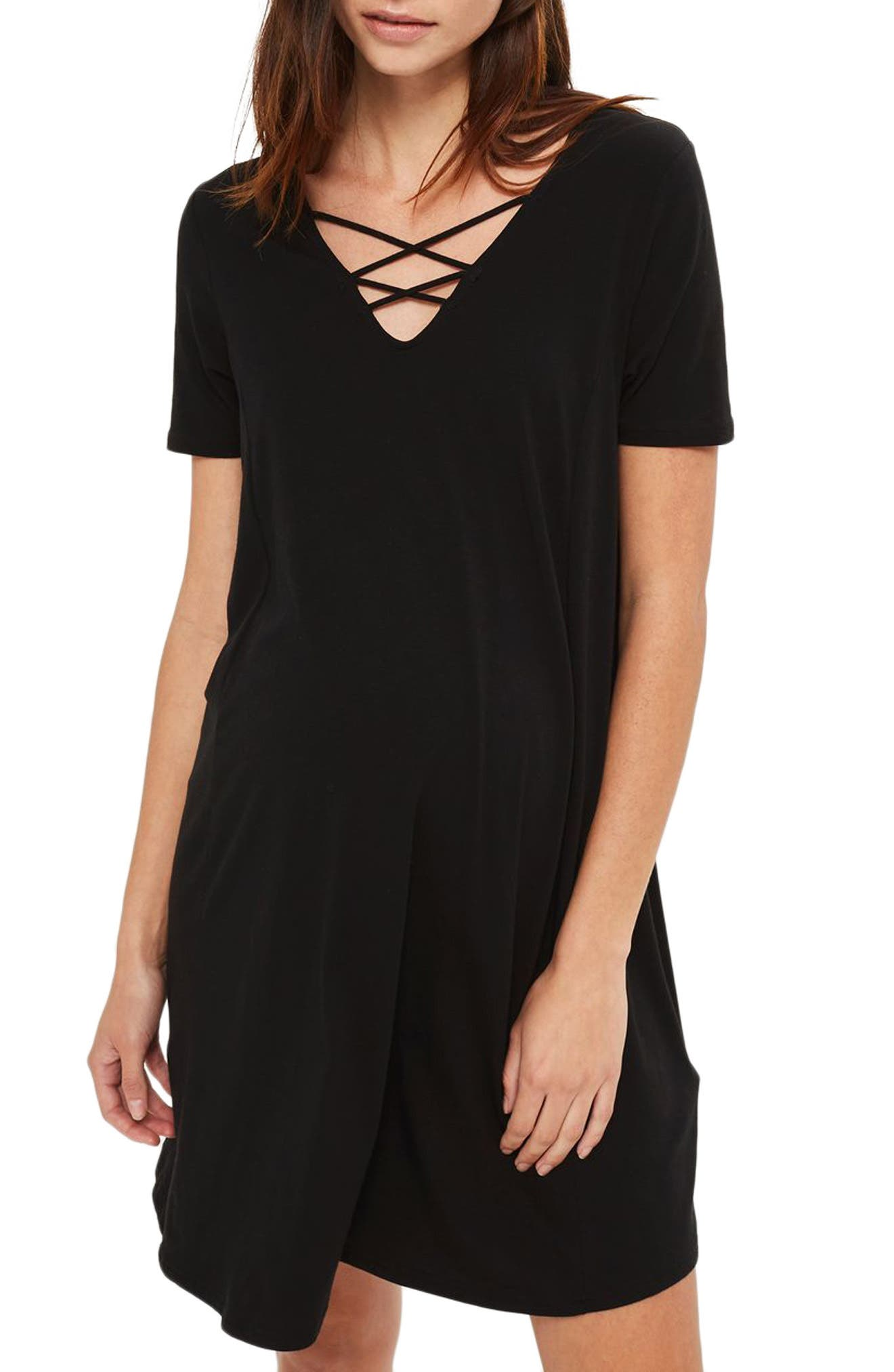 Topshop Lattice Trapeze Maternity Dress