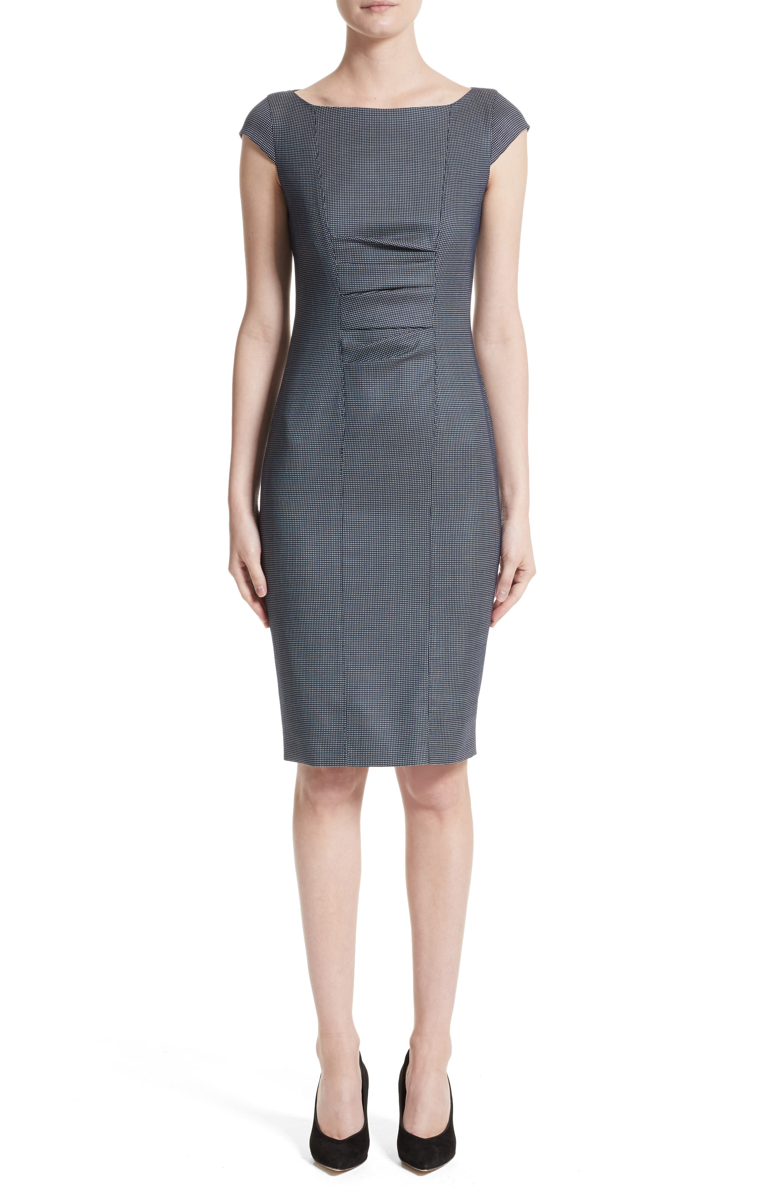 Max Mara Tasso Stretch Wool & Silk Sheath Dress (Nordstrom Exclusive)
