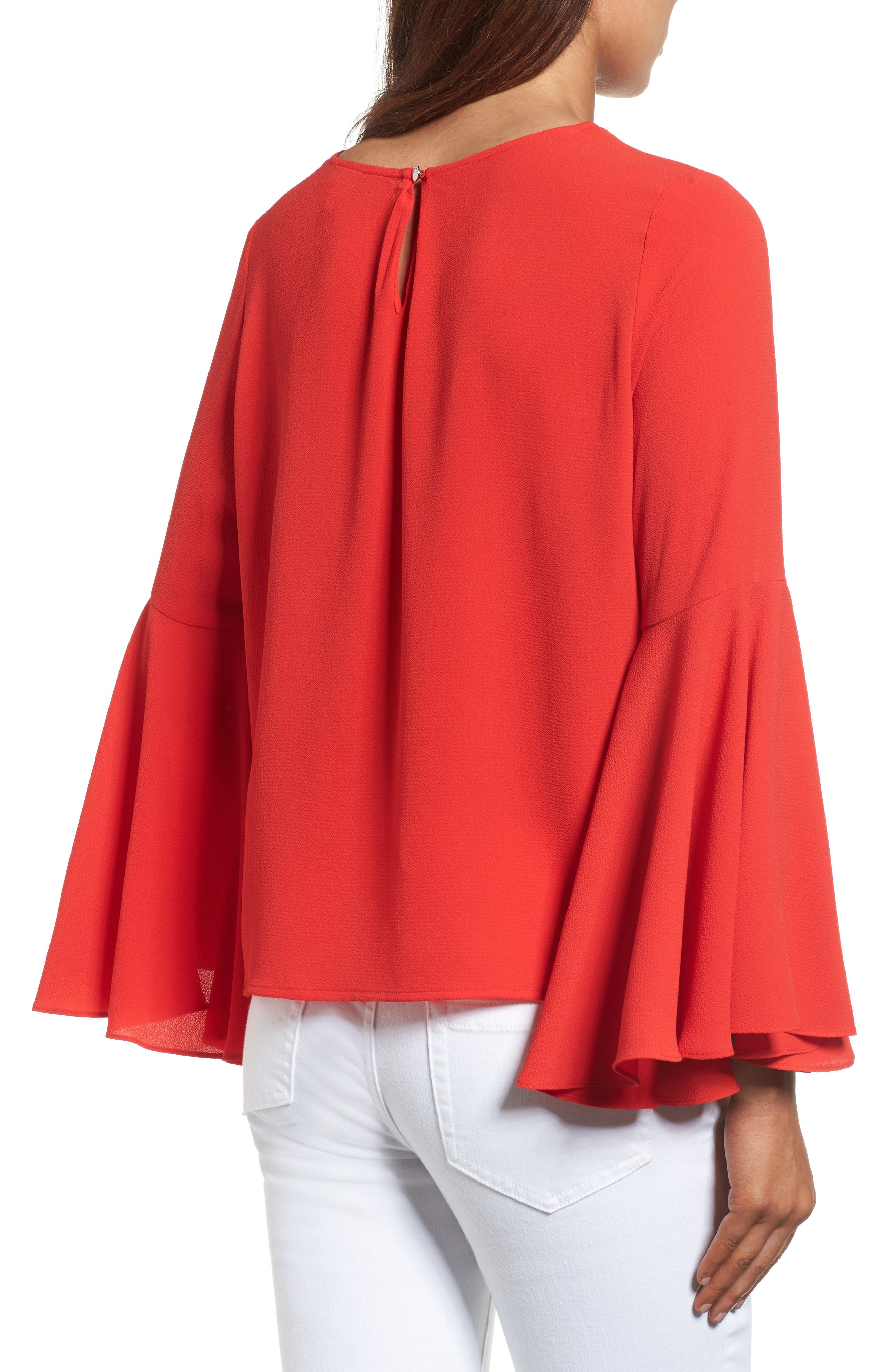 Alternate Image 2  - Vince Camuto Bell Sleeve Blouse (Regular & Petite)