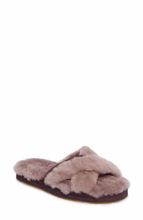 UGG Abela Genuine Shearling Flip Flop (Women)