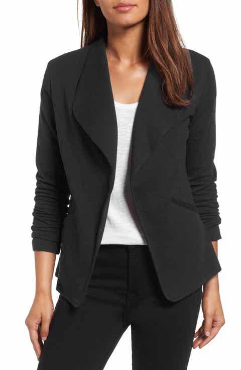 Caslon® Knit Blazer (Regular & Petite) - Black Coats & Jackets For Women Nordstrom