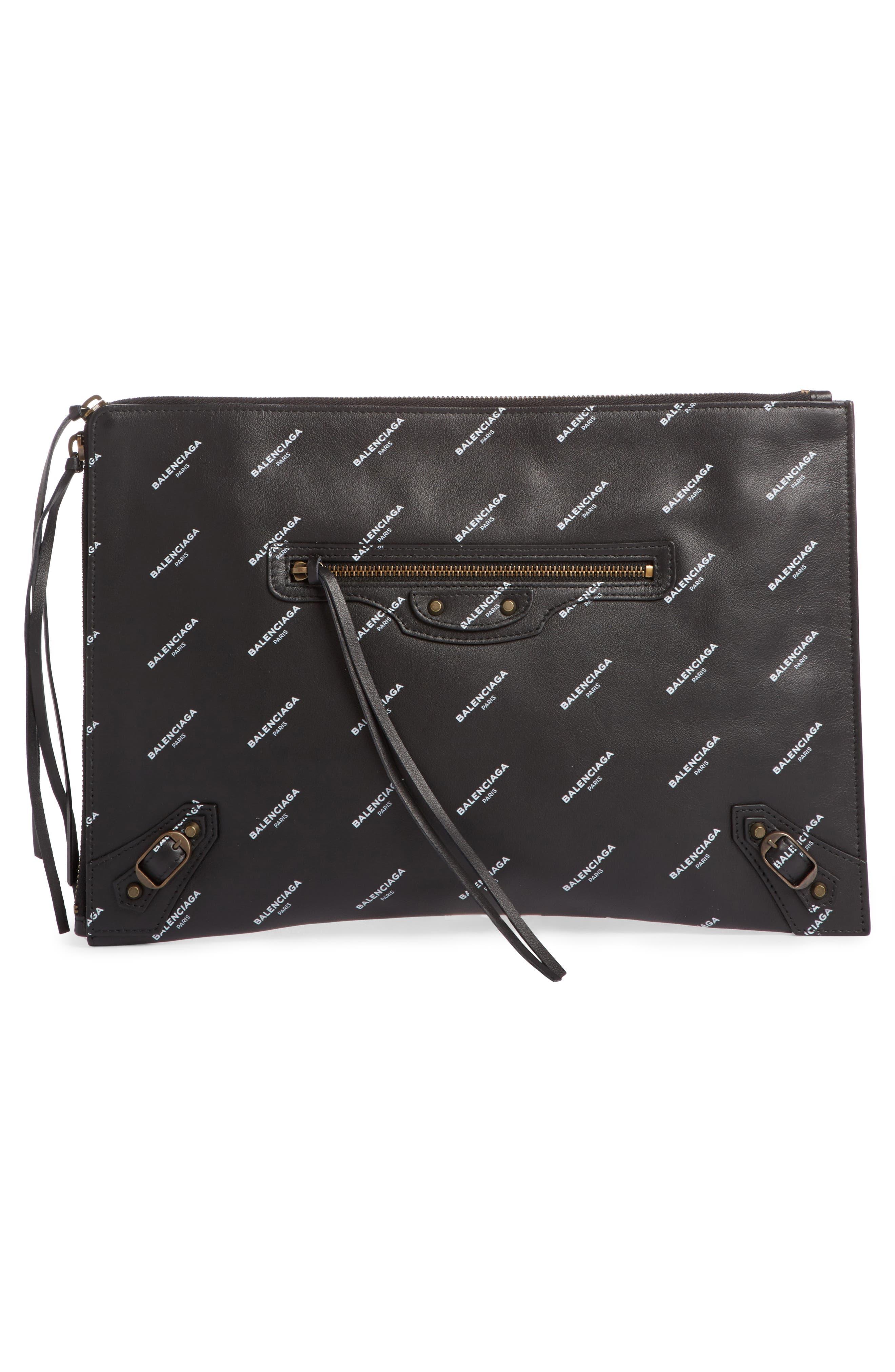 Balenciaga Classic Leather Pouch