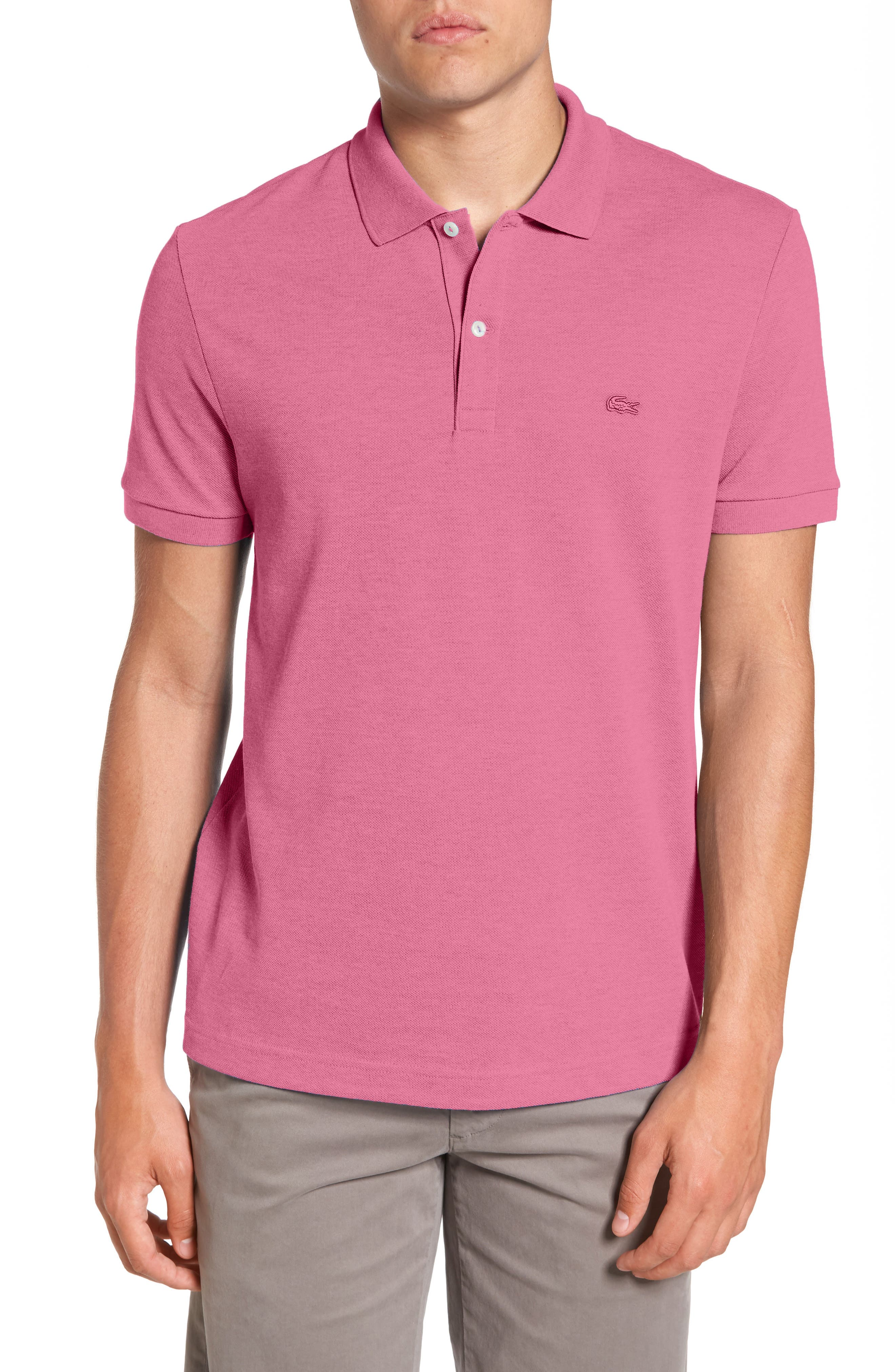 Lacoste Piqué Polo with Tonal Croc