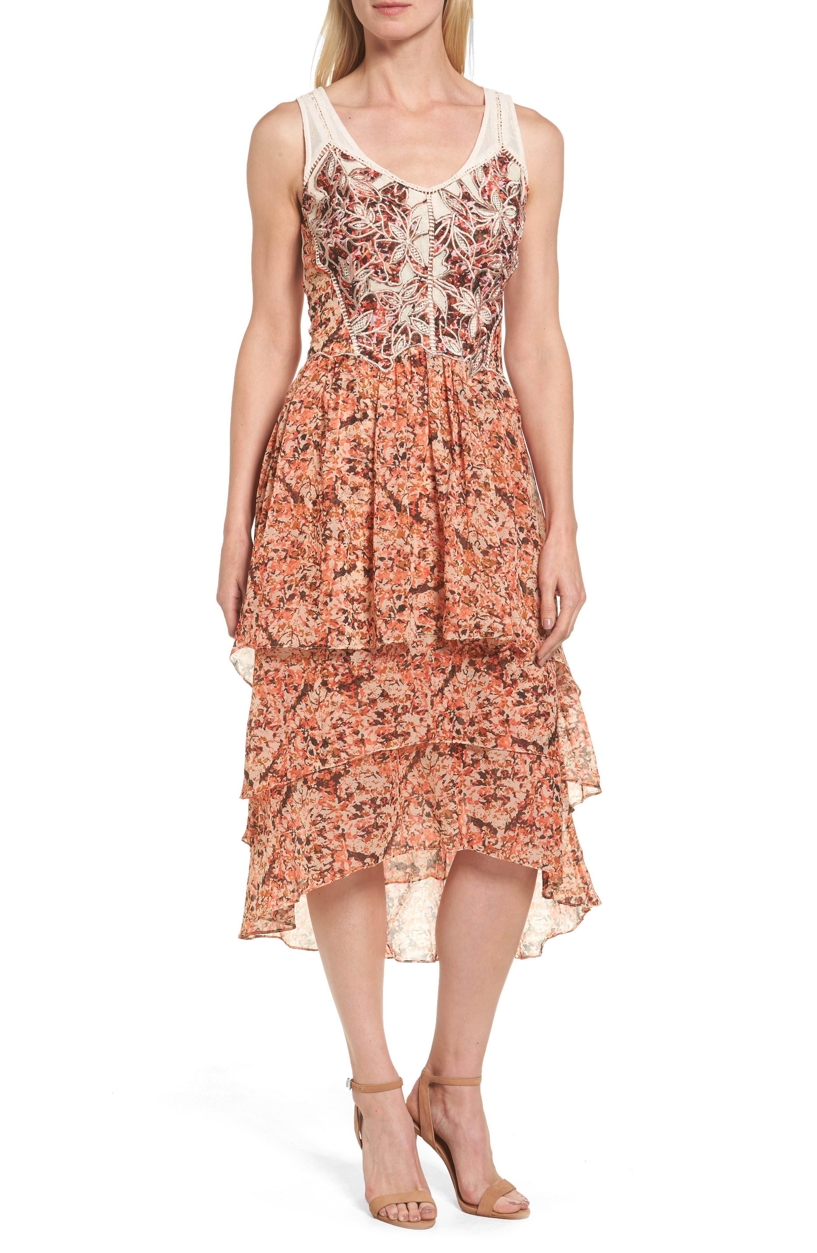 Kobi Halperin Jolene Tiered Midi Dress