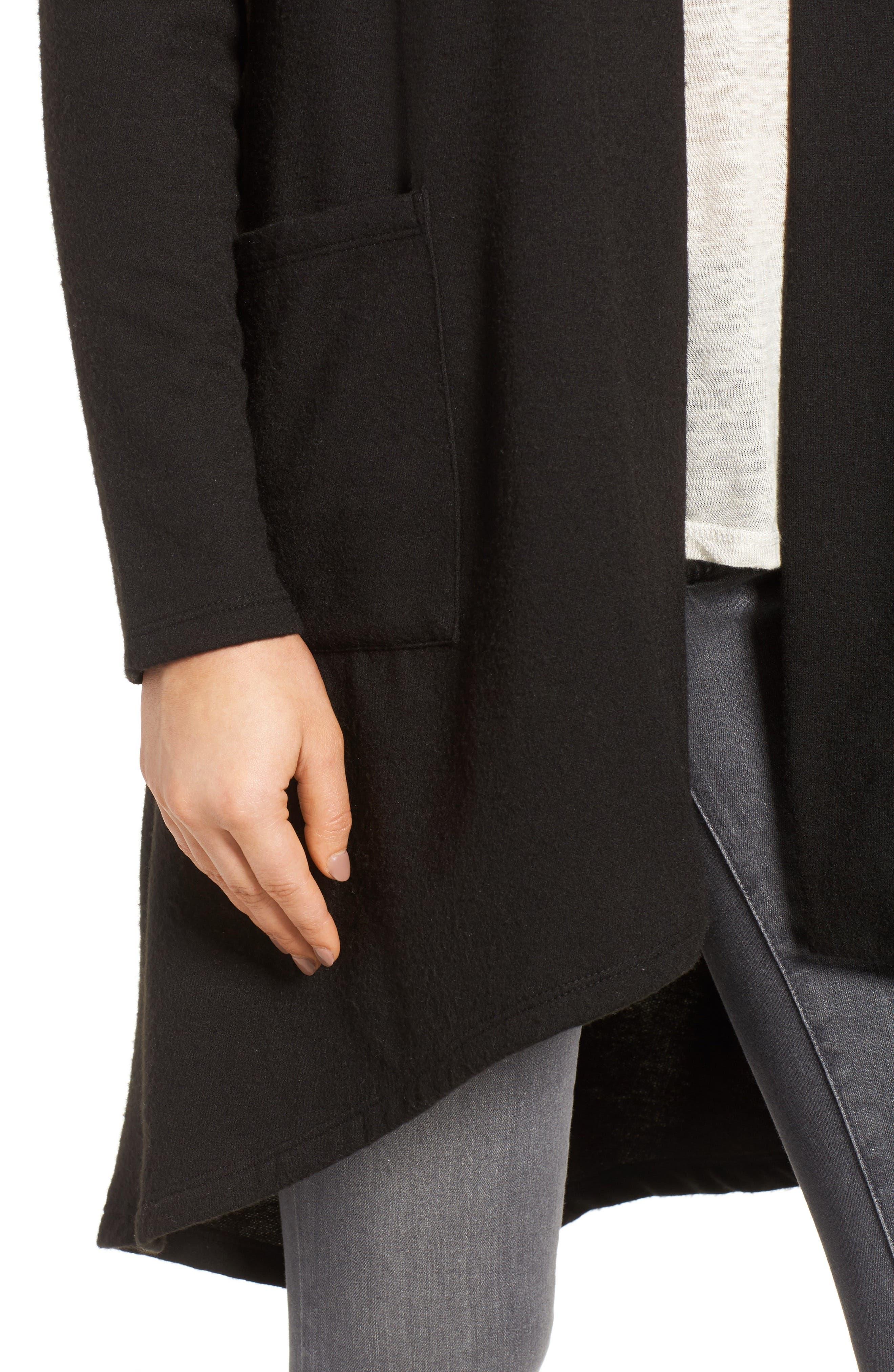 Alternate Image 4  - Bobeau High/Low Fleece Knit Cardigan (Regular & Petite)