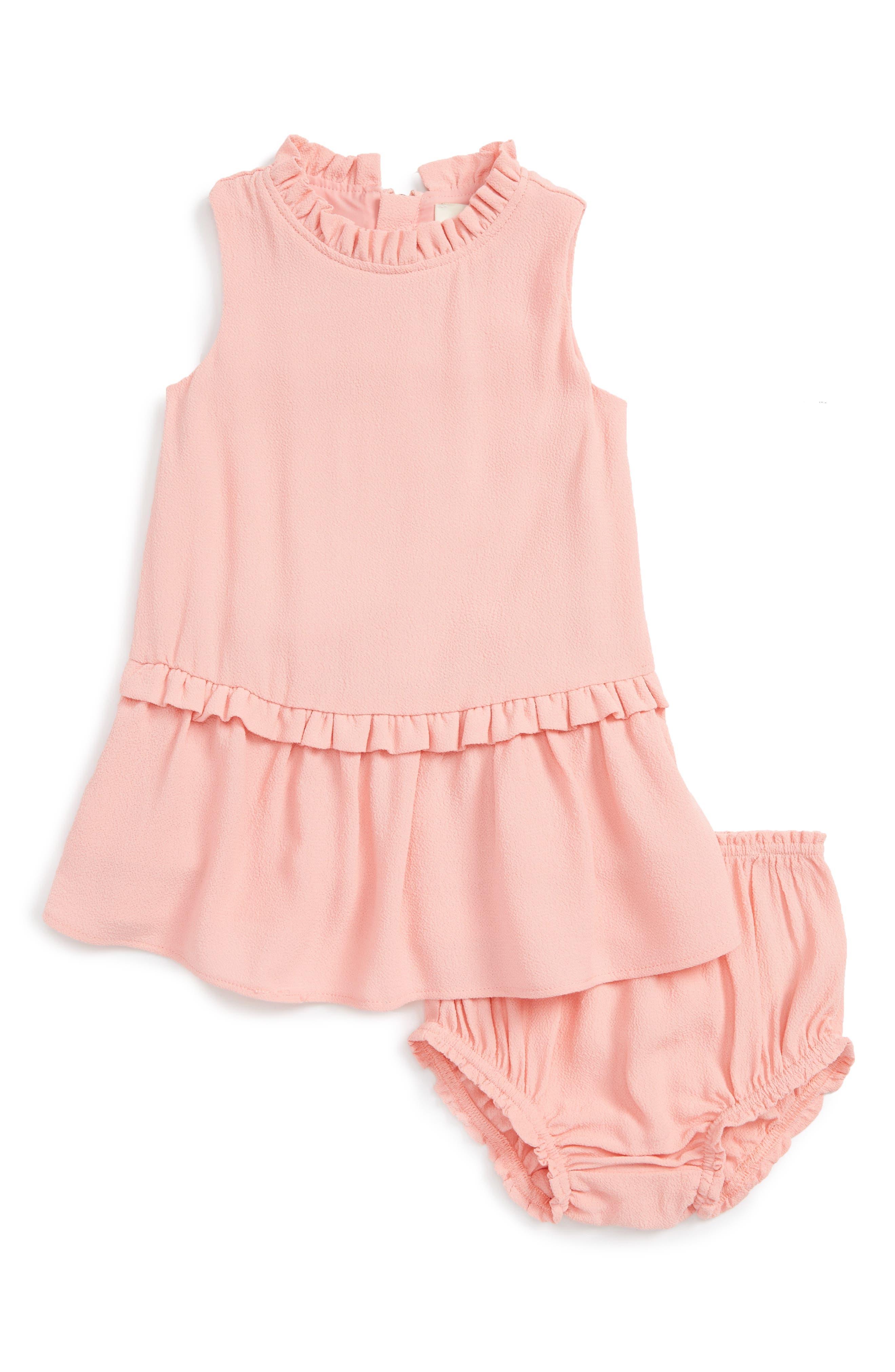 kate spade new york ruffle collar dress (Baby Girls)
