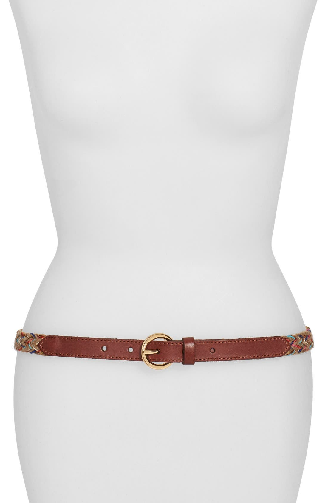 Alternate Image 1 Selected - Another Line Multicolor Woven Jute Belt