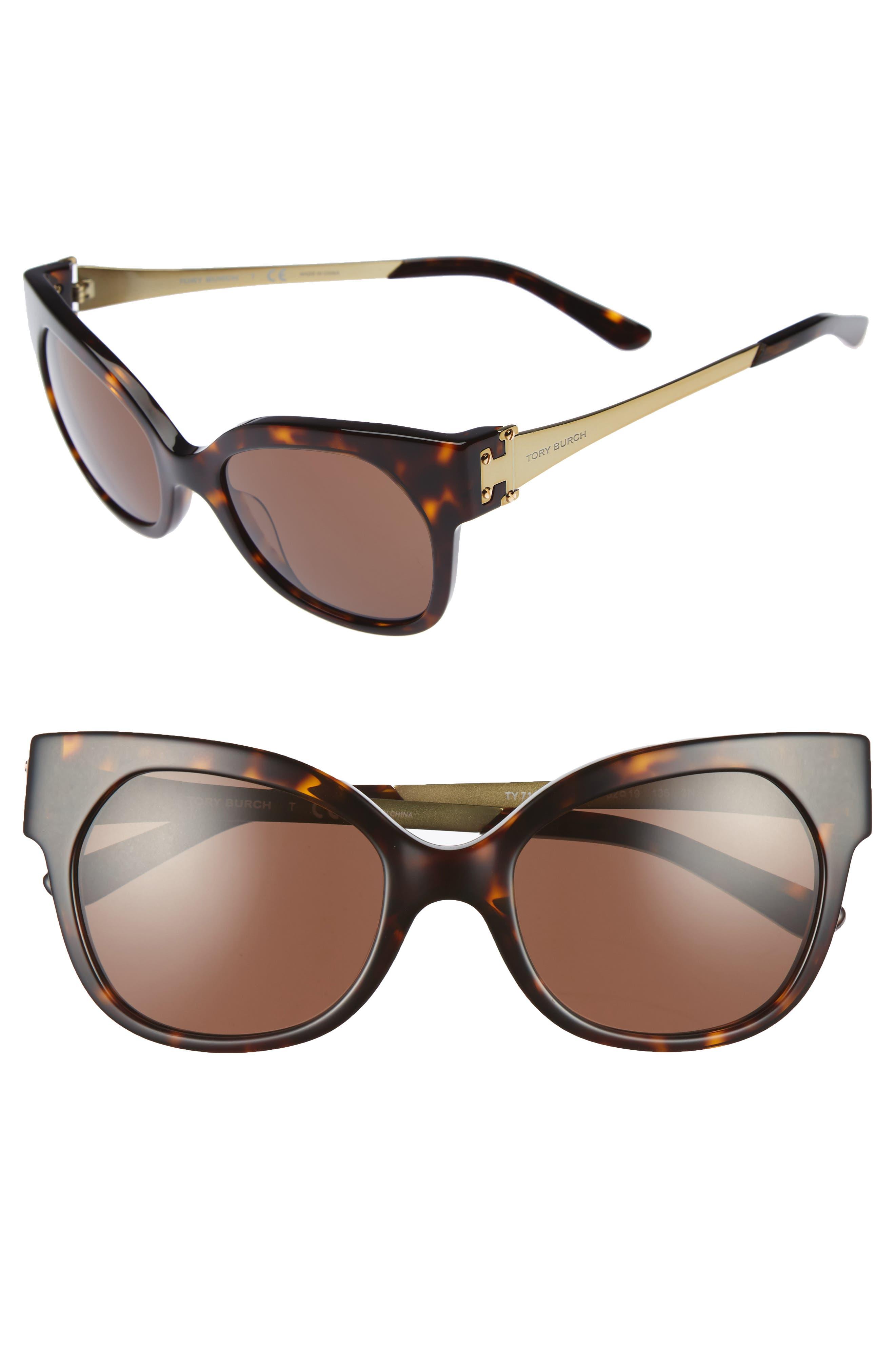 Tory Burch 52mm Cat Eye Sunglasses