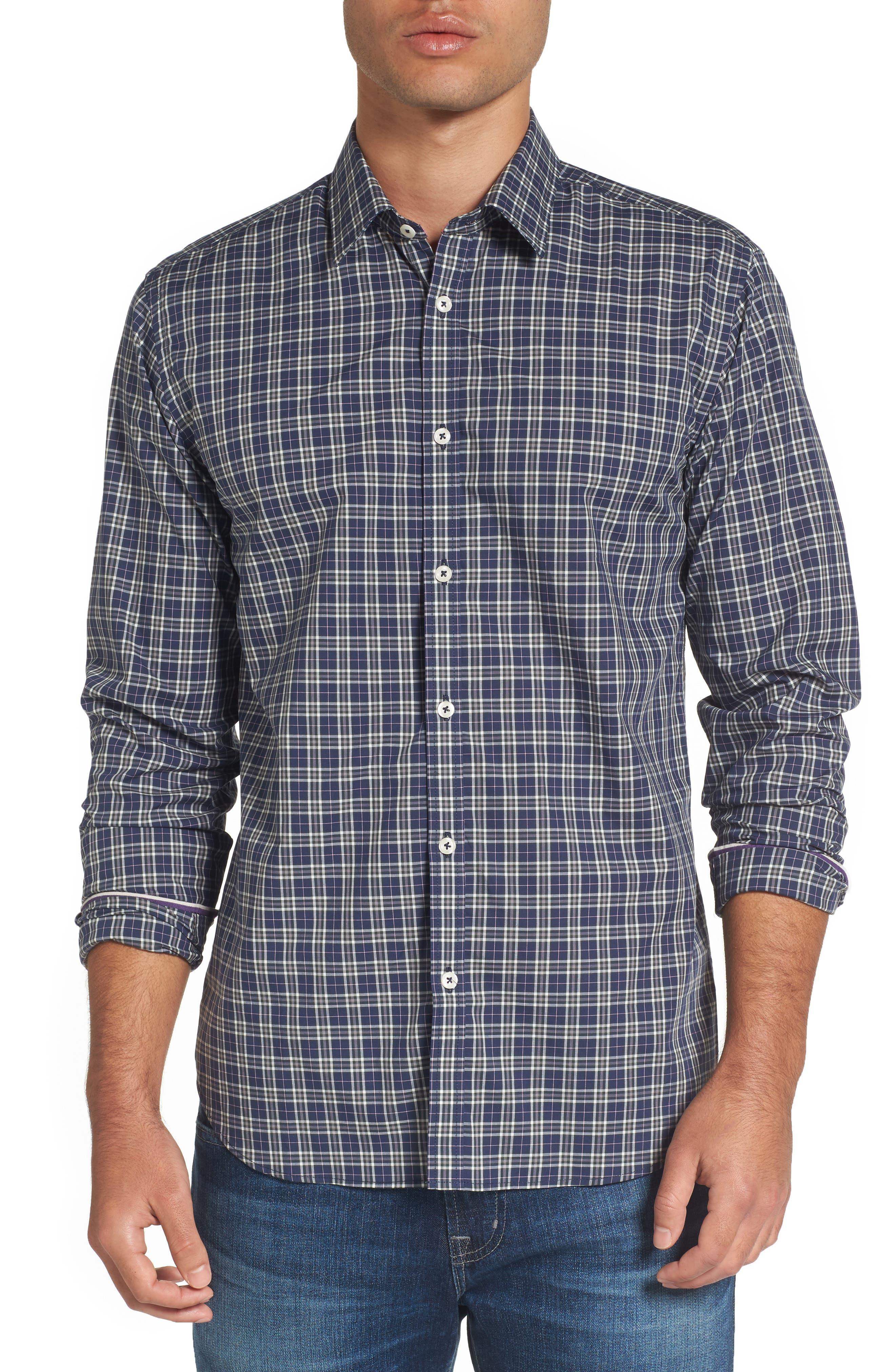 Jeremy Argyle Comfort Fit Plaid Sport Shirt