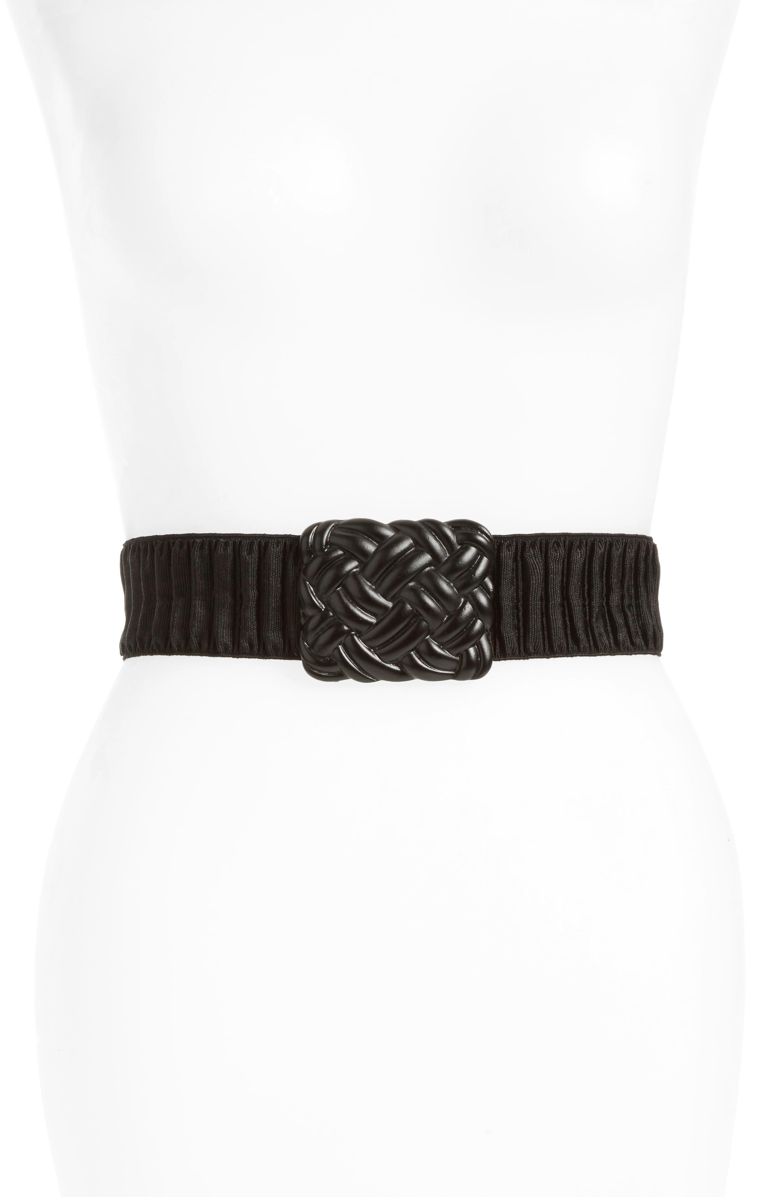 Natasha Couture Woven Stretch Belt