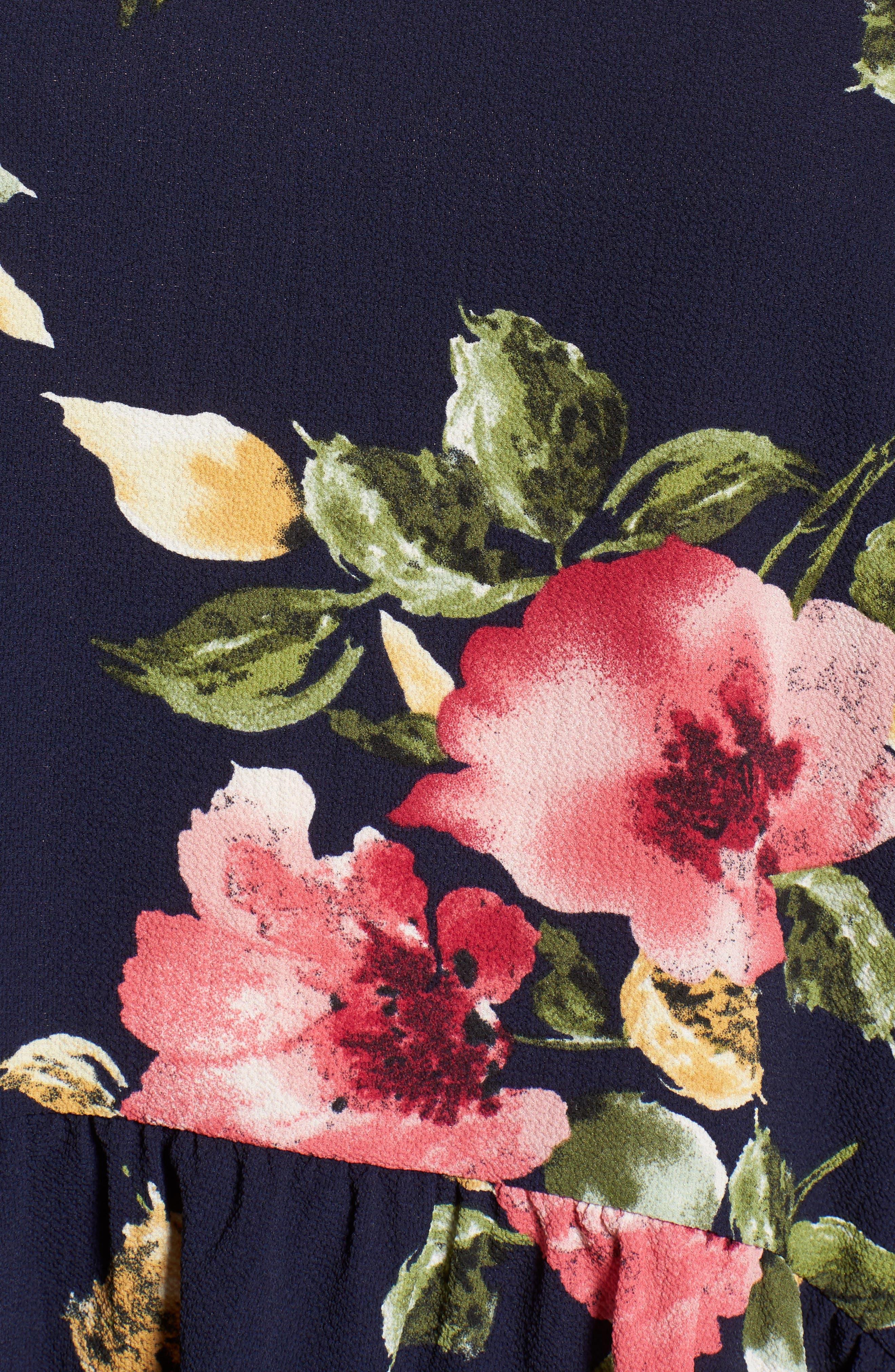 Alternate Image 5  - Gibson Ruffled Handkerchief Hem Top (Regular & Petite)