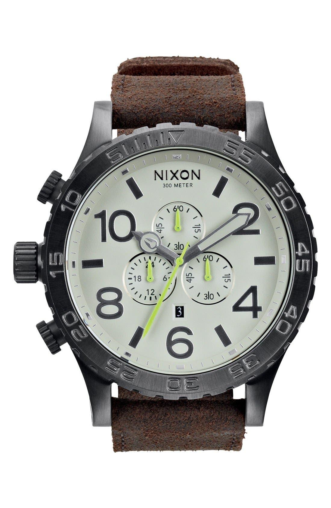Alternate Image 1 Selected - Nixon 'The 51-30 Chrono' Watch, 51mm