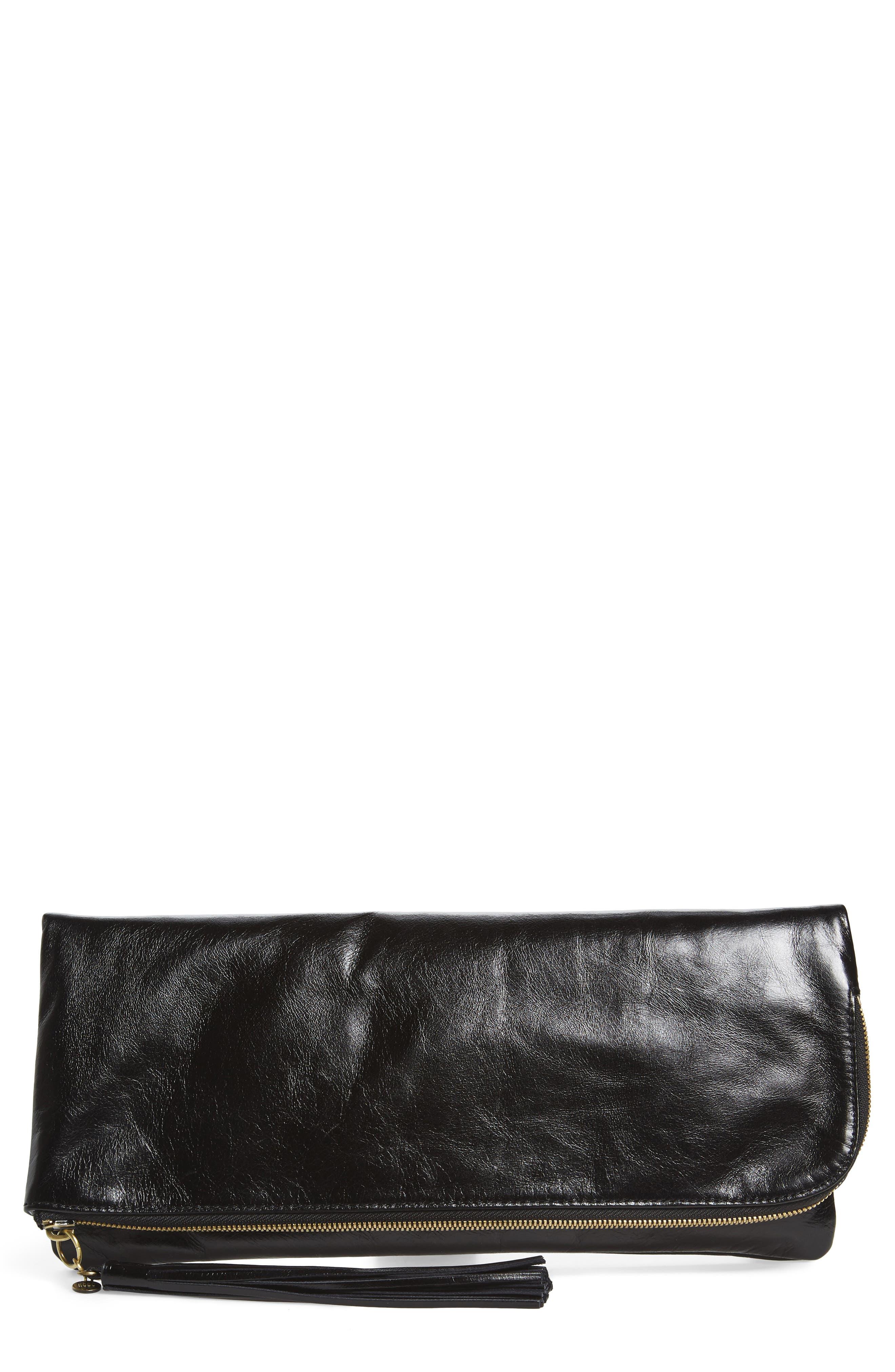 Hobo Raine Calfskin Leather Foldover Clutch